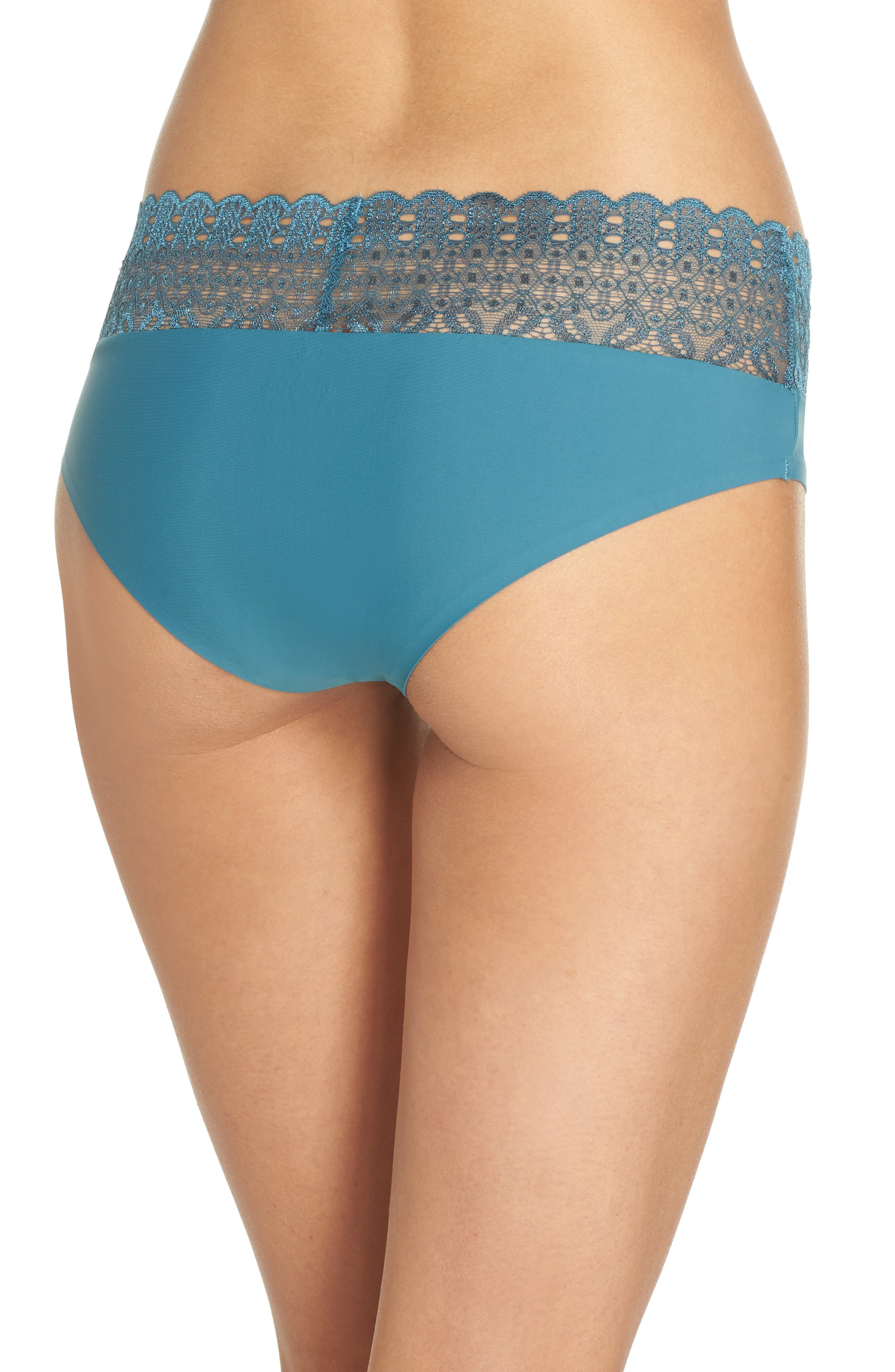 Lace Hipster Briefs,                             Alternate thumbnail 2, color,                             Love Fern