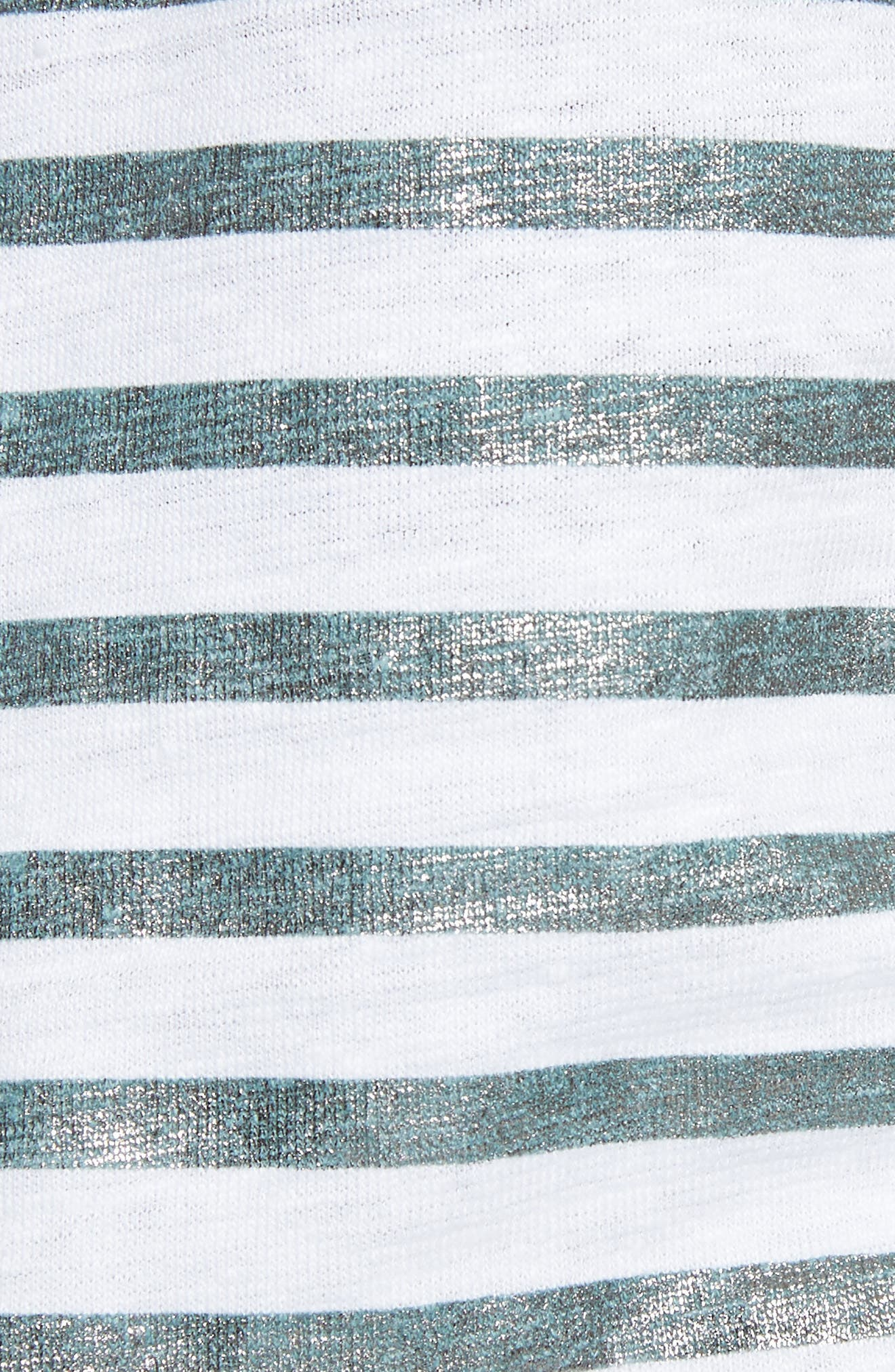 Alternate Image 5  - Majestic Filatures Metallic Stripe Top