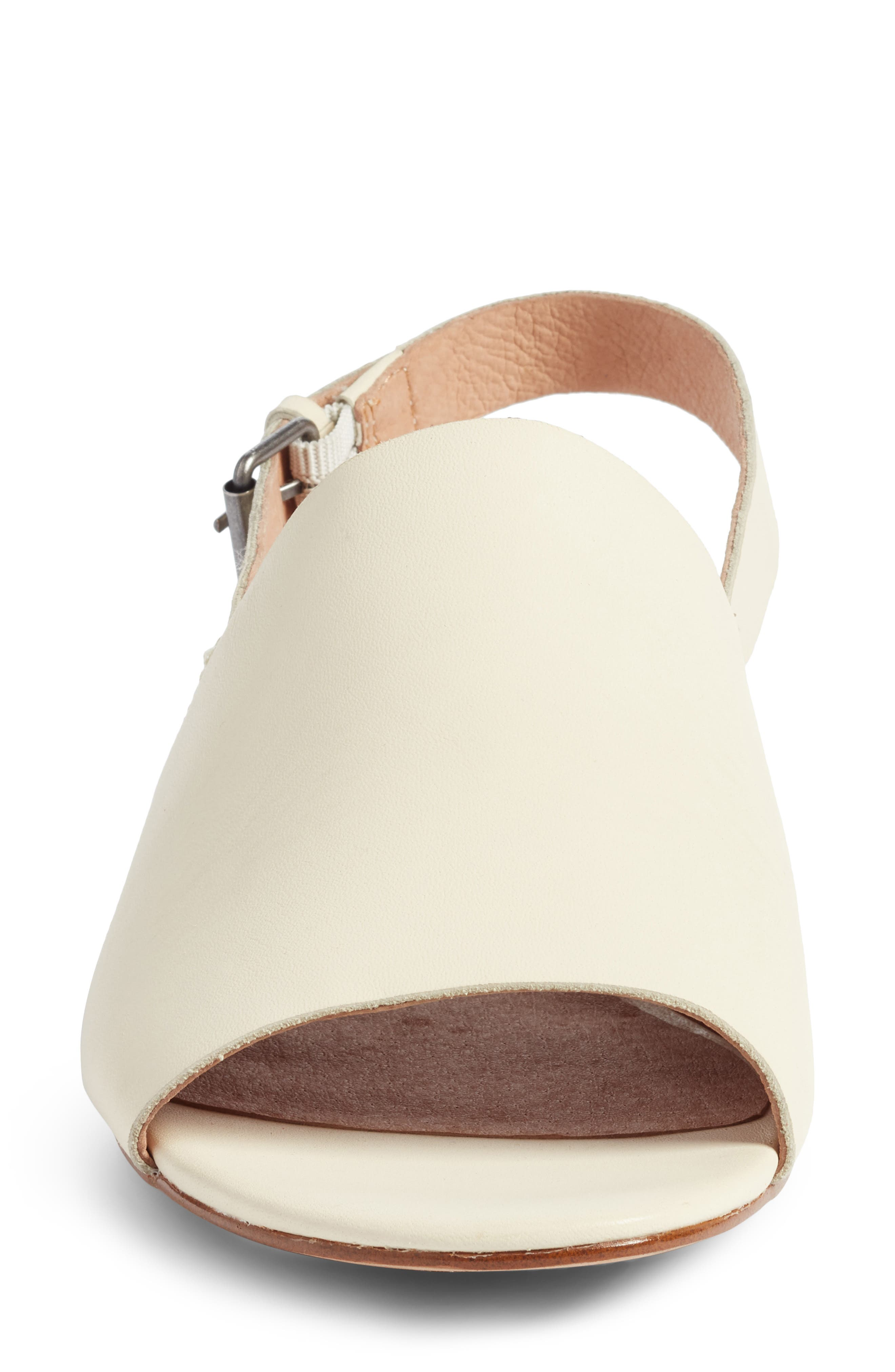 Noelle Slingback Sandal,                             Alternate thumbnail 4, color,                             Vintage Canvas Leather