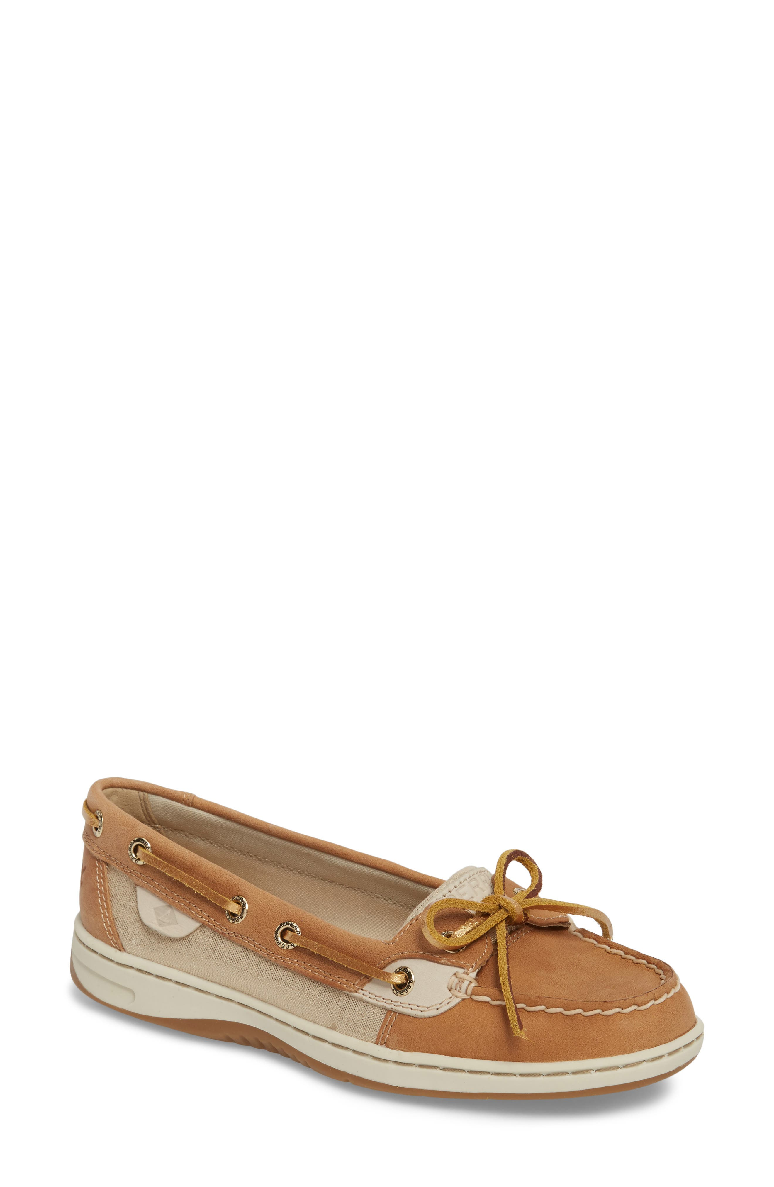 'Angelfish' Boat Shoe,                         Main,                         color, Linen Metallic Leather