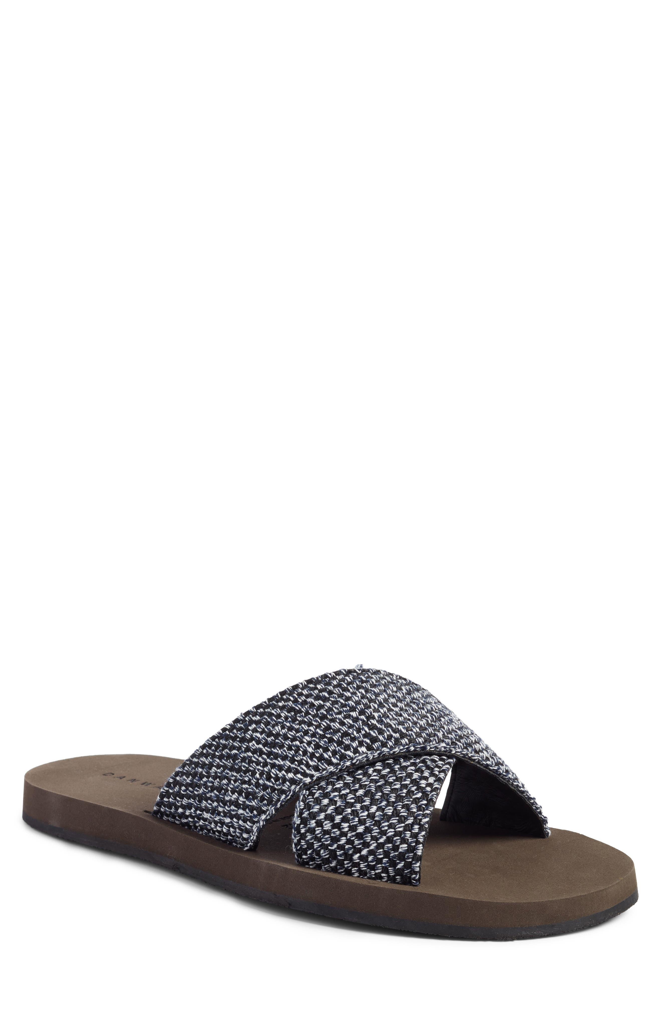Criss Cross Slide Sandal,                         Main,                         color, Navy