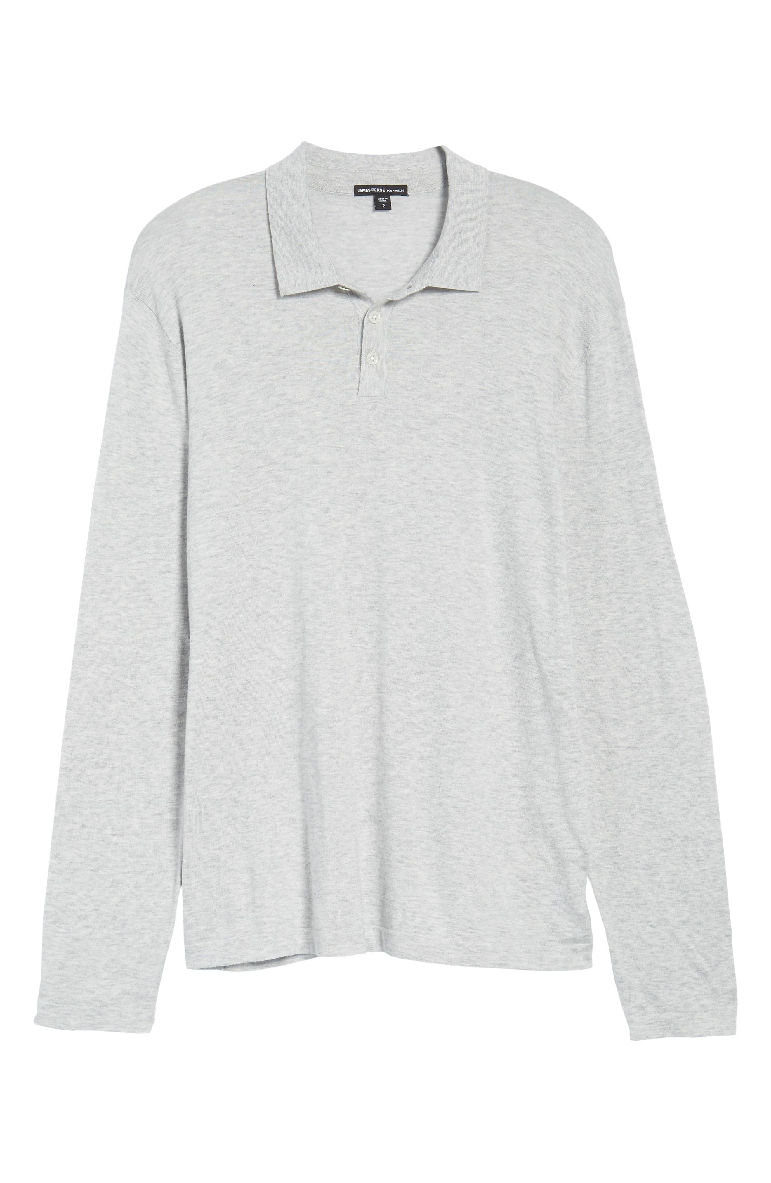 Fine Gauge Regular Fit Cotton Polo,                             Alternate thumbnail 6, color,                             Platinum