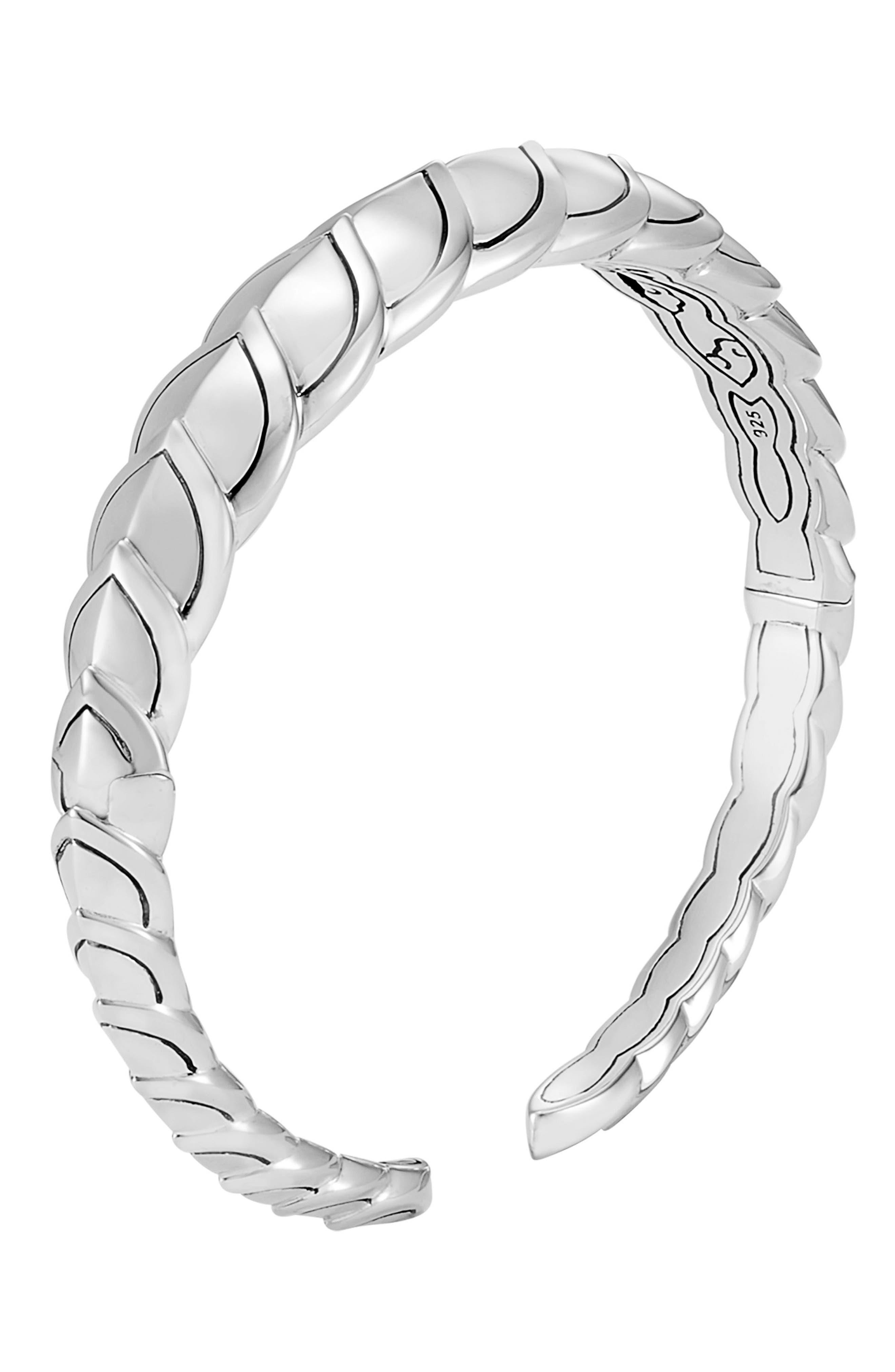 Legends Naga Small Flex Cuff Bracelet,                             Main thumbnail 1, color,                             Silver