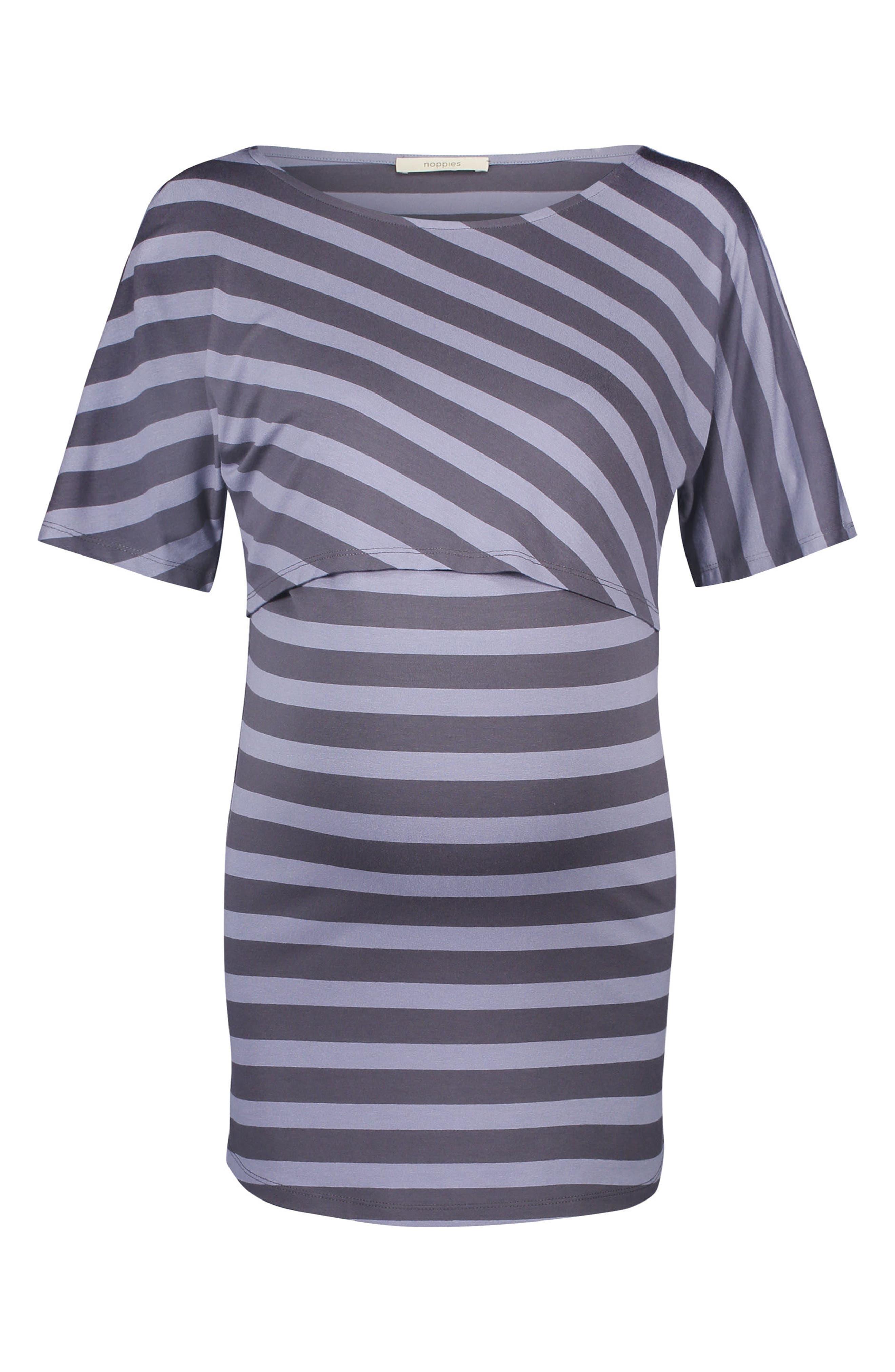 Alice Maternity/Nursing Top,                         Main,                         color, Blue Strip