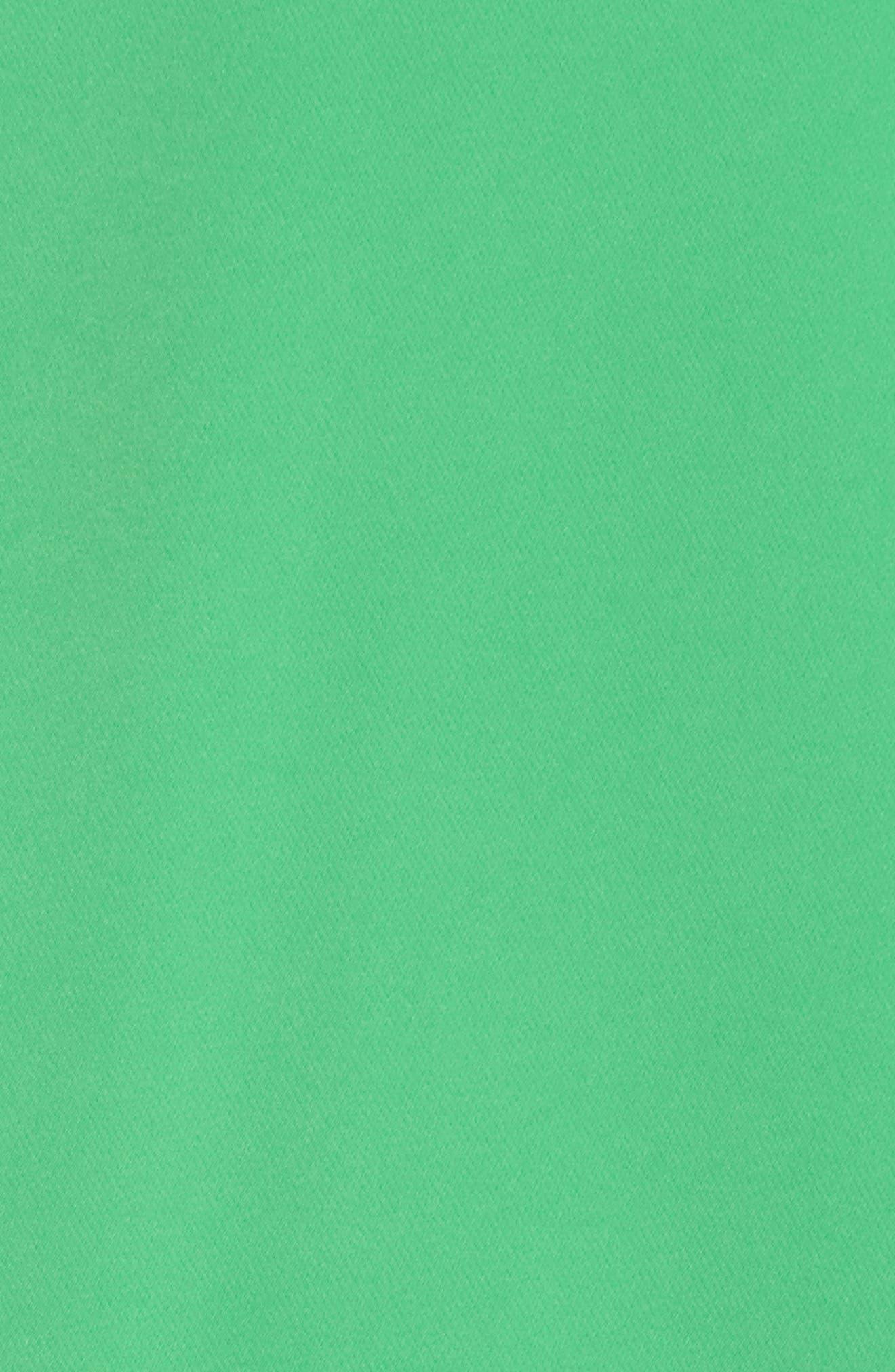 Laguna One-Shoulder Scuba Dress,                             Alternate thumbnail 6, color,                             Green