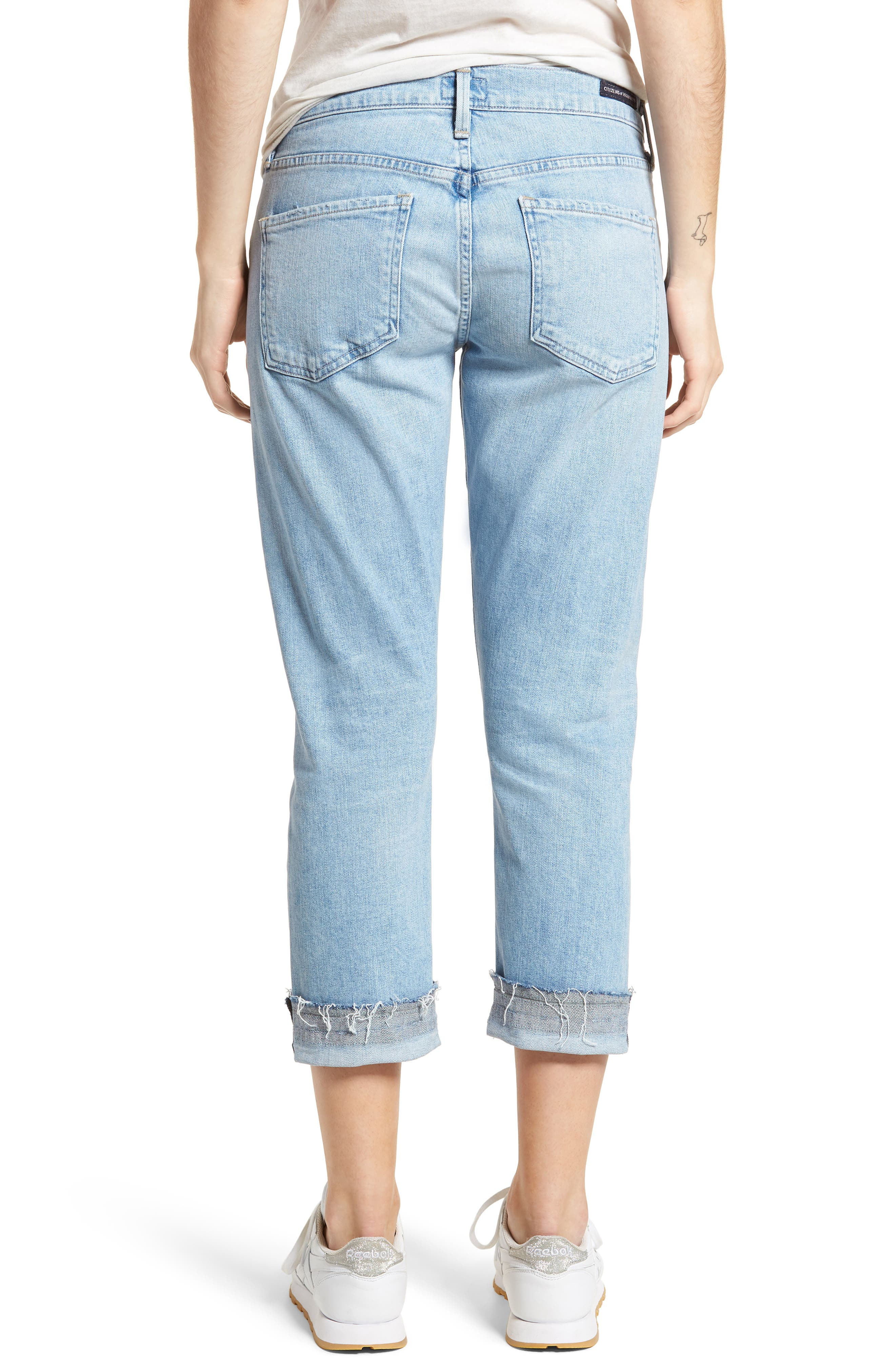Emerson Ripped Crop Slim Boyfriend Jeans,                             Alternate thumbnail 2, color,                             Rising