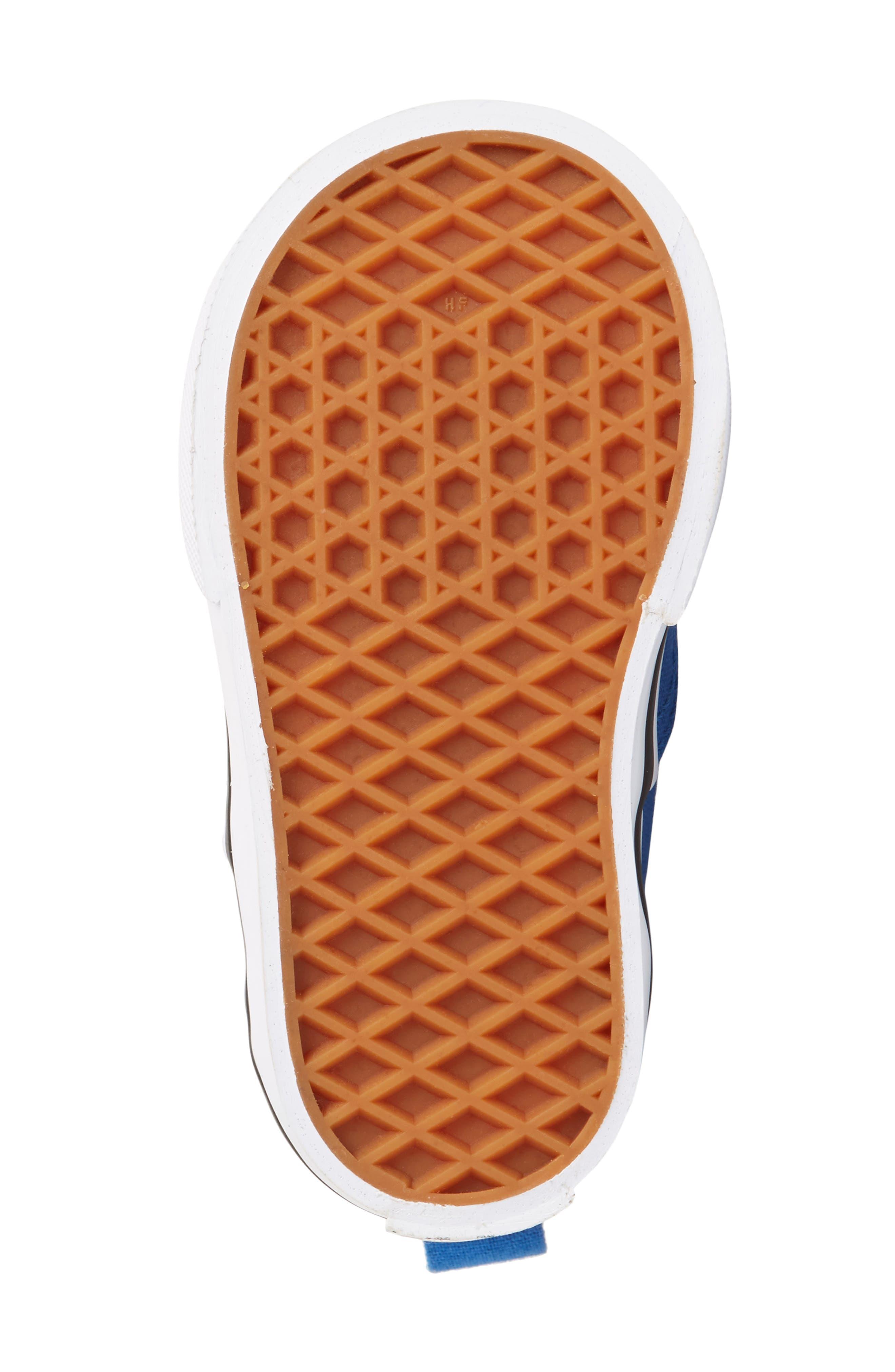 Authentic Sneaker,                             Alternate thumbnail 6, color,                             Blue/ White Check Lace