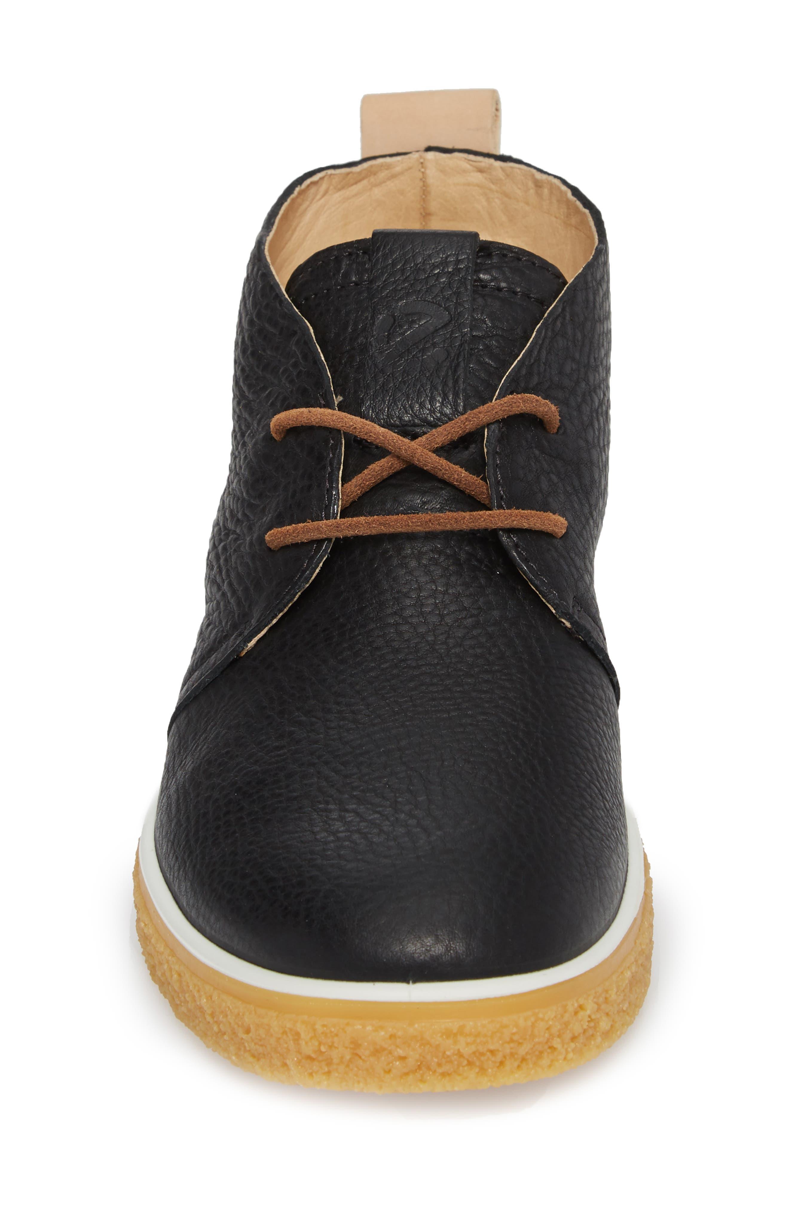 Crepetray Chukka Boot,                             Alternate thumbnail 4, color,                             Black Powder Leather
