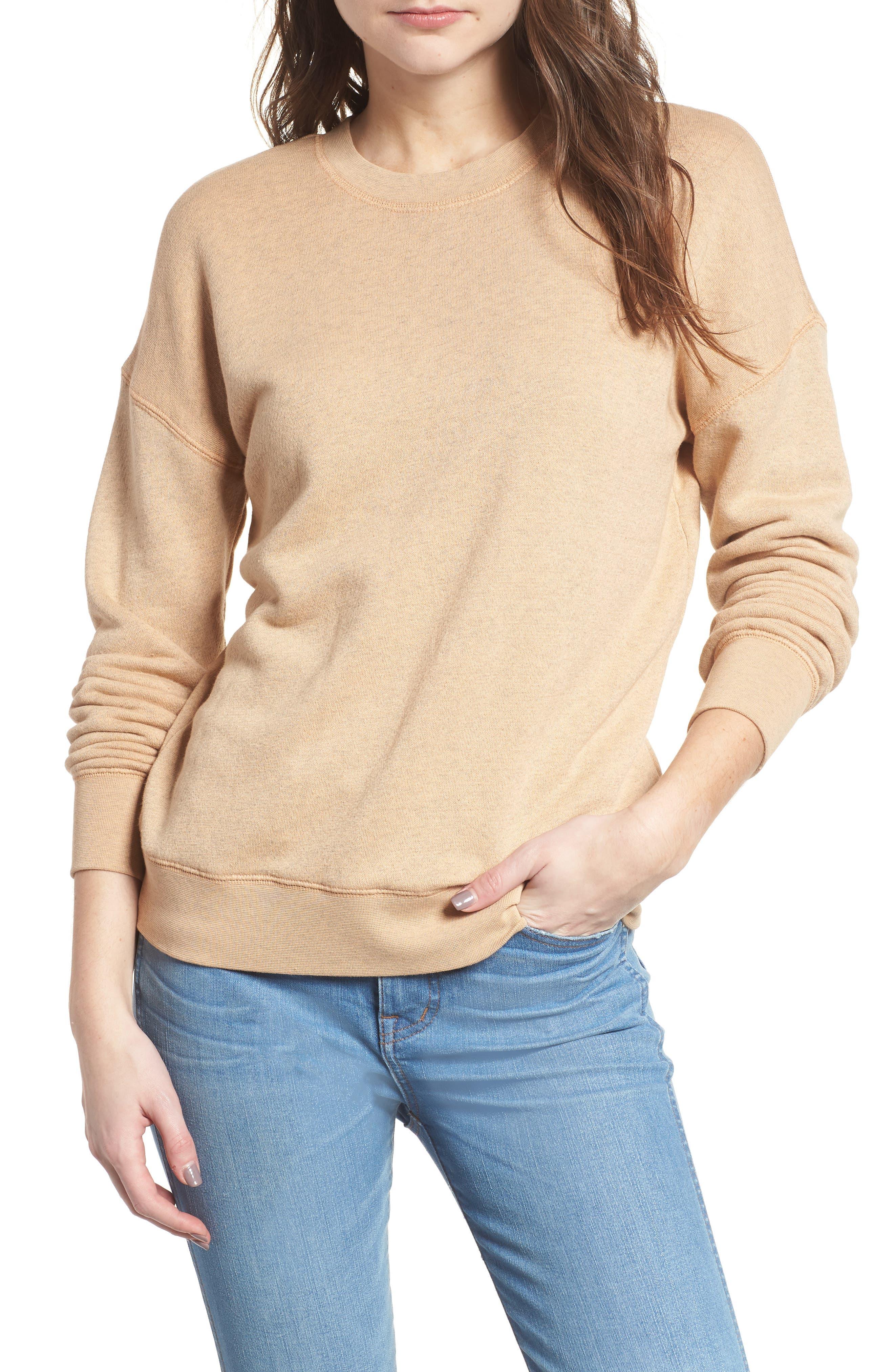 Mainstay Sweatshirt,                         Main,                         color, Hthr Dune