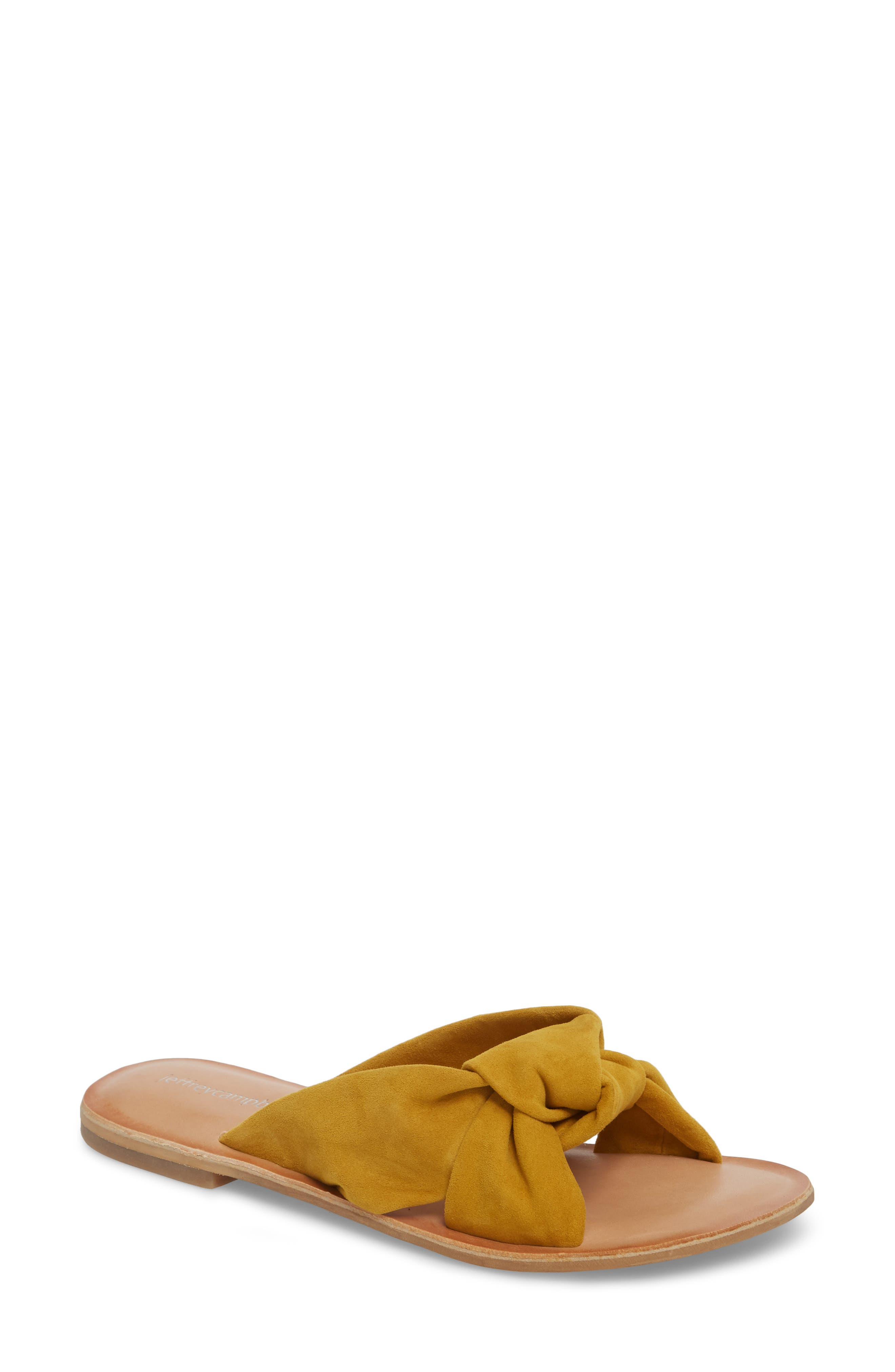 Zocalo Slide Sandal,                         Main,                         color, Mustard Suede