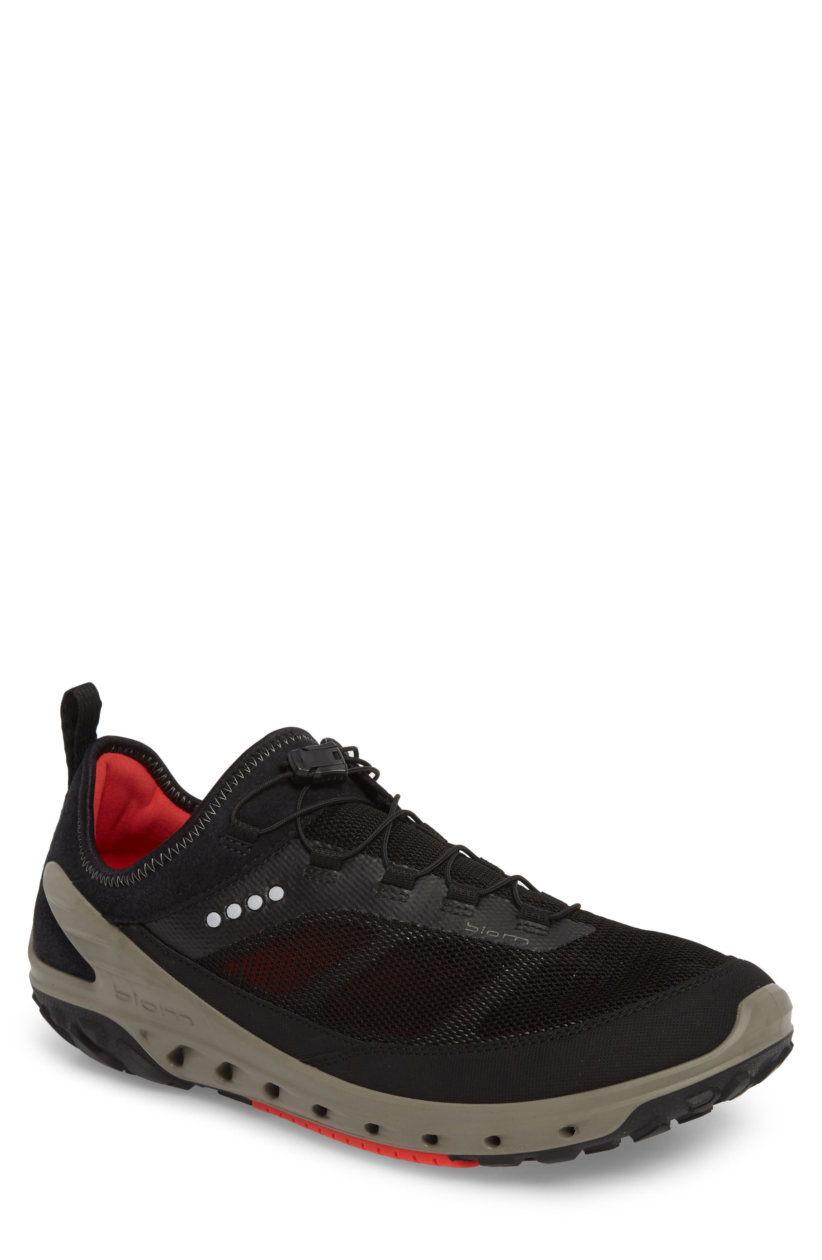 Biom Venture Sneaker,                         Main,                         color, Black Leather