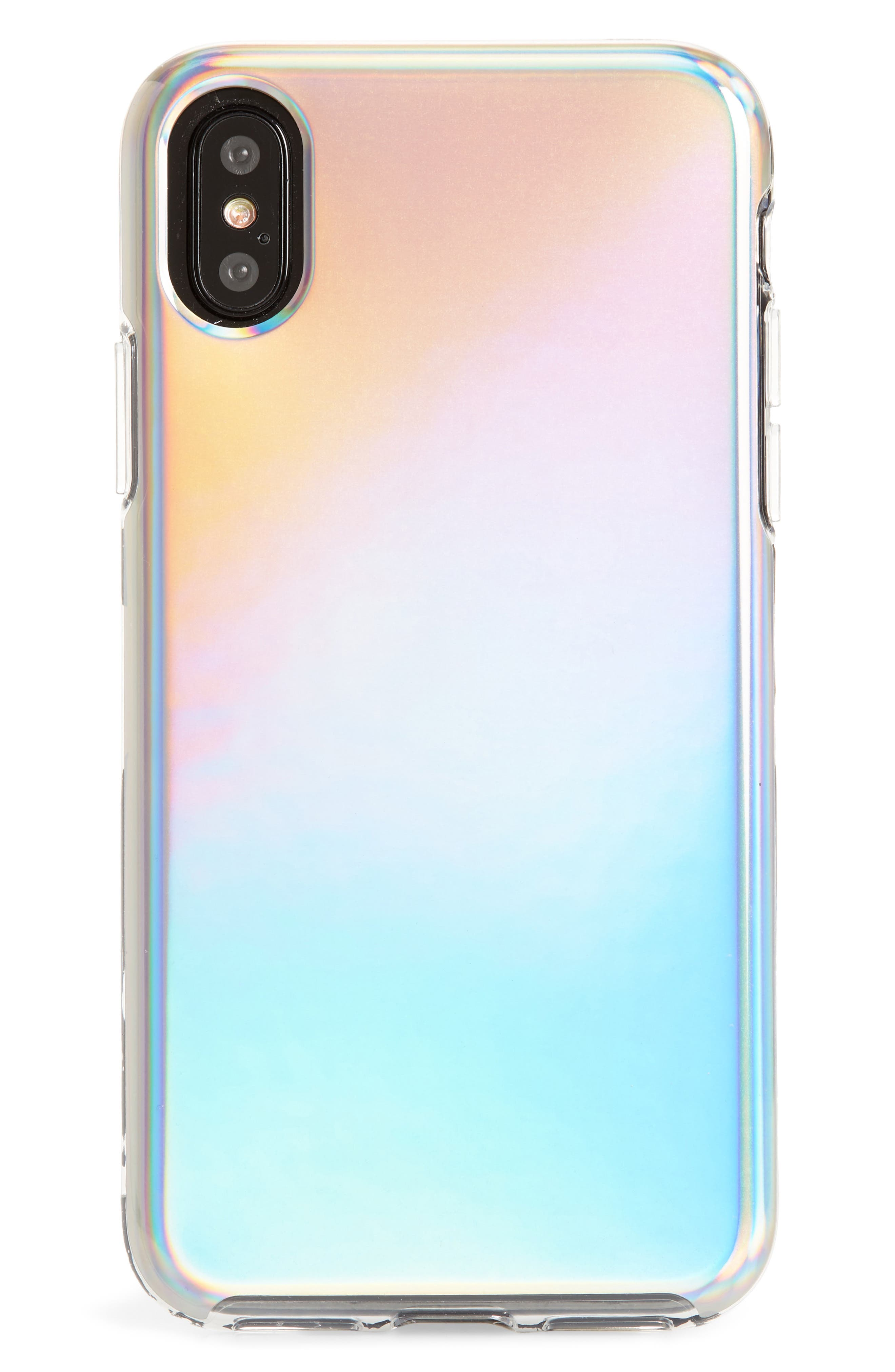 Holographic iPhone X Case,                             Main thumbnail 1, color,                             Multi