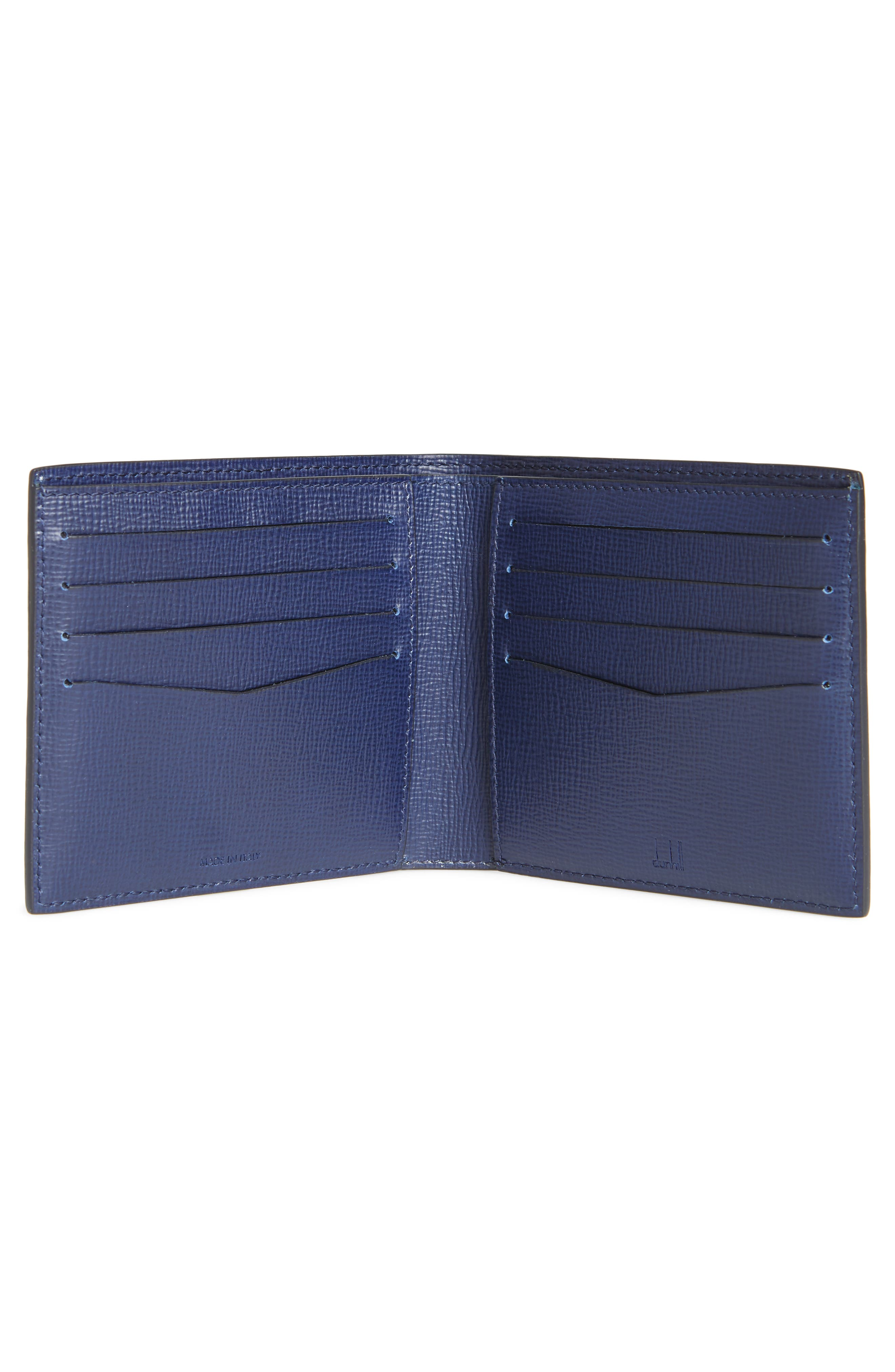 Cadogan Leather Wallet,                             Alternate thumbnail 2, color,                             Navy