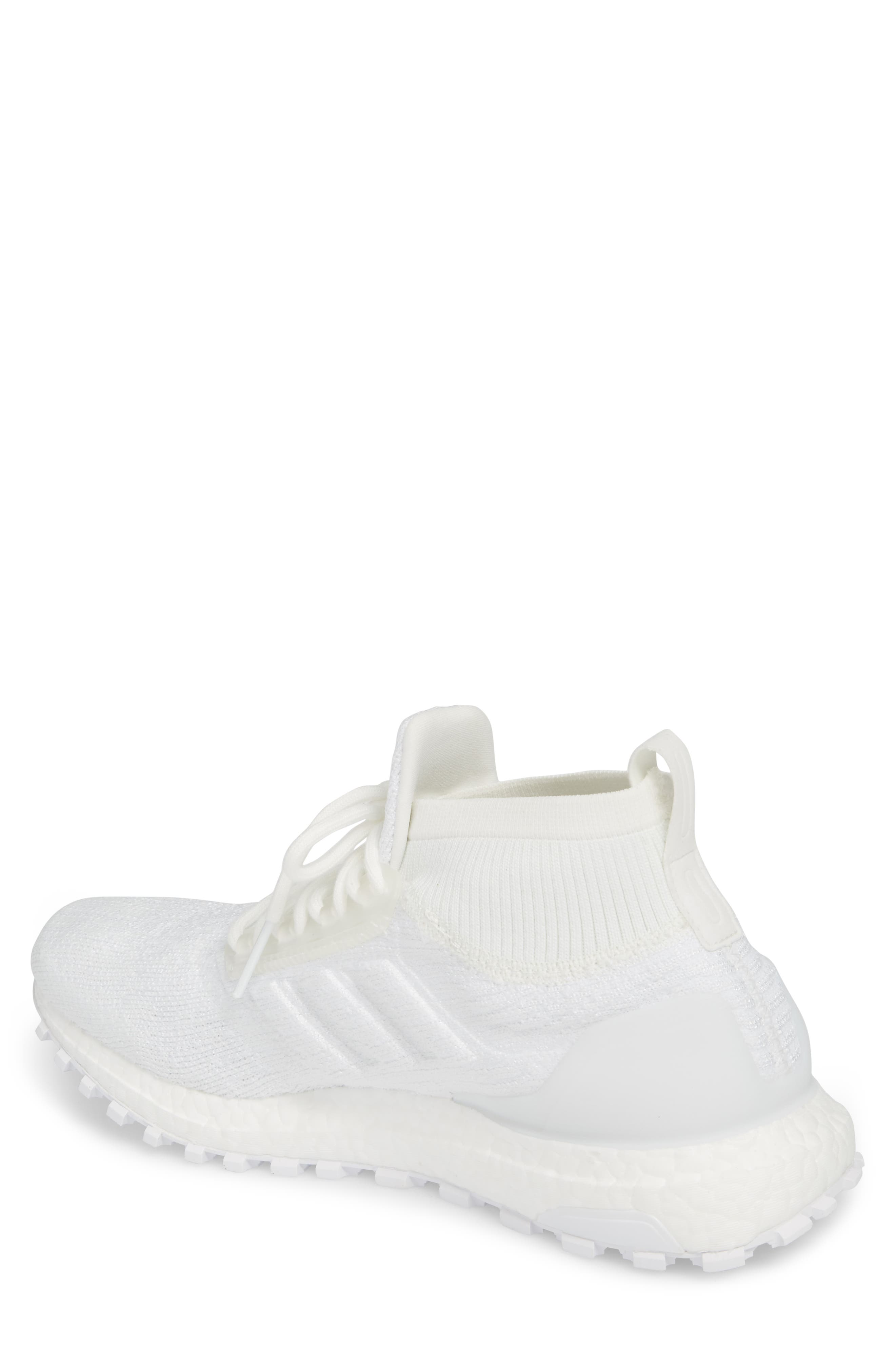 UltraBoost All Terrain Water Resistant Running Shoe,                             Alternate thumbnail 2, color,                             Non-Dyed White