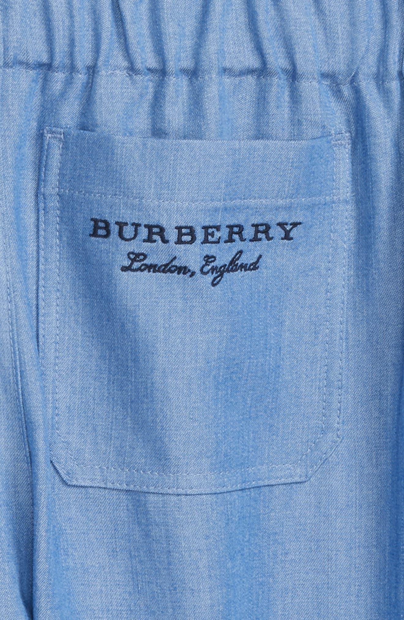 Phillie Chambray Pants,                             Alternate thumbnail 3, color,                             Steel Blue