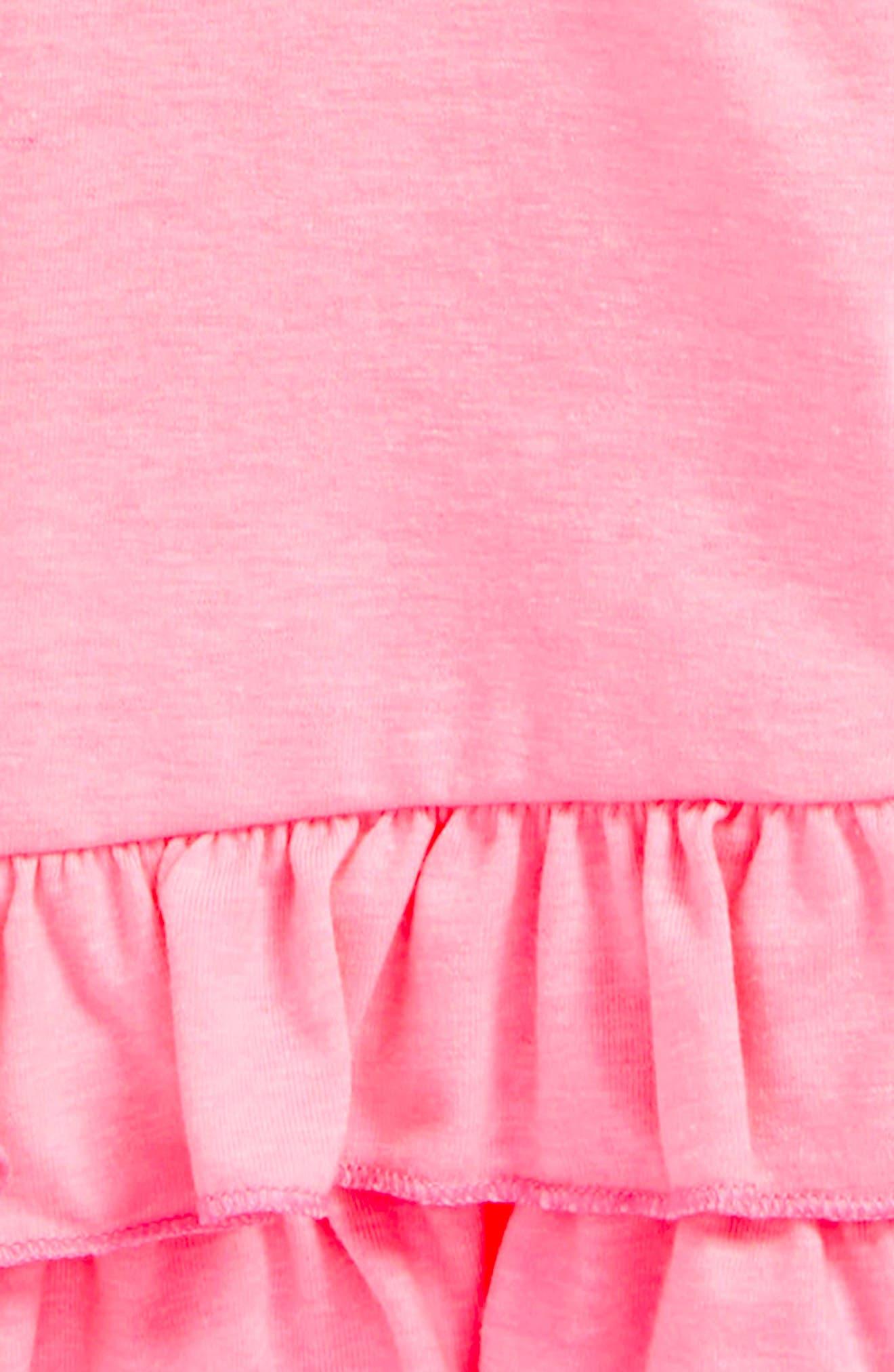 Leightan Ruffle Hem Tee,                             Alternate thumbnail 2, color,                             Pink Sunset
