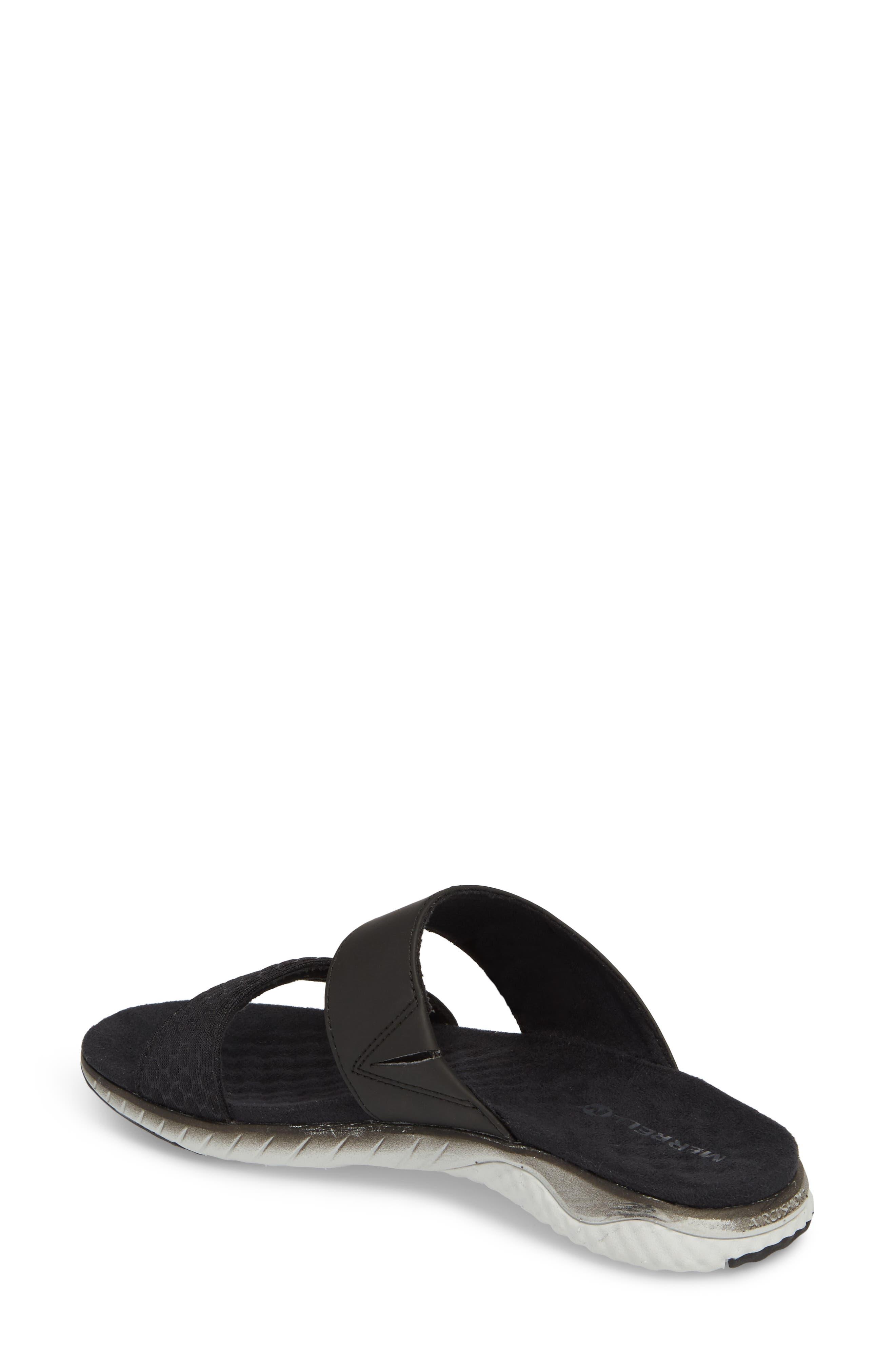 1SIX8 Linna Air Cushion+ Slide Sandal,                             Alternate thumbnail 2, color,                             Black