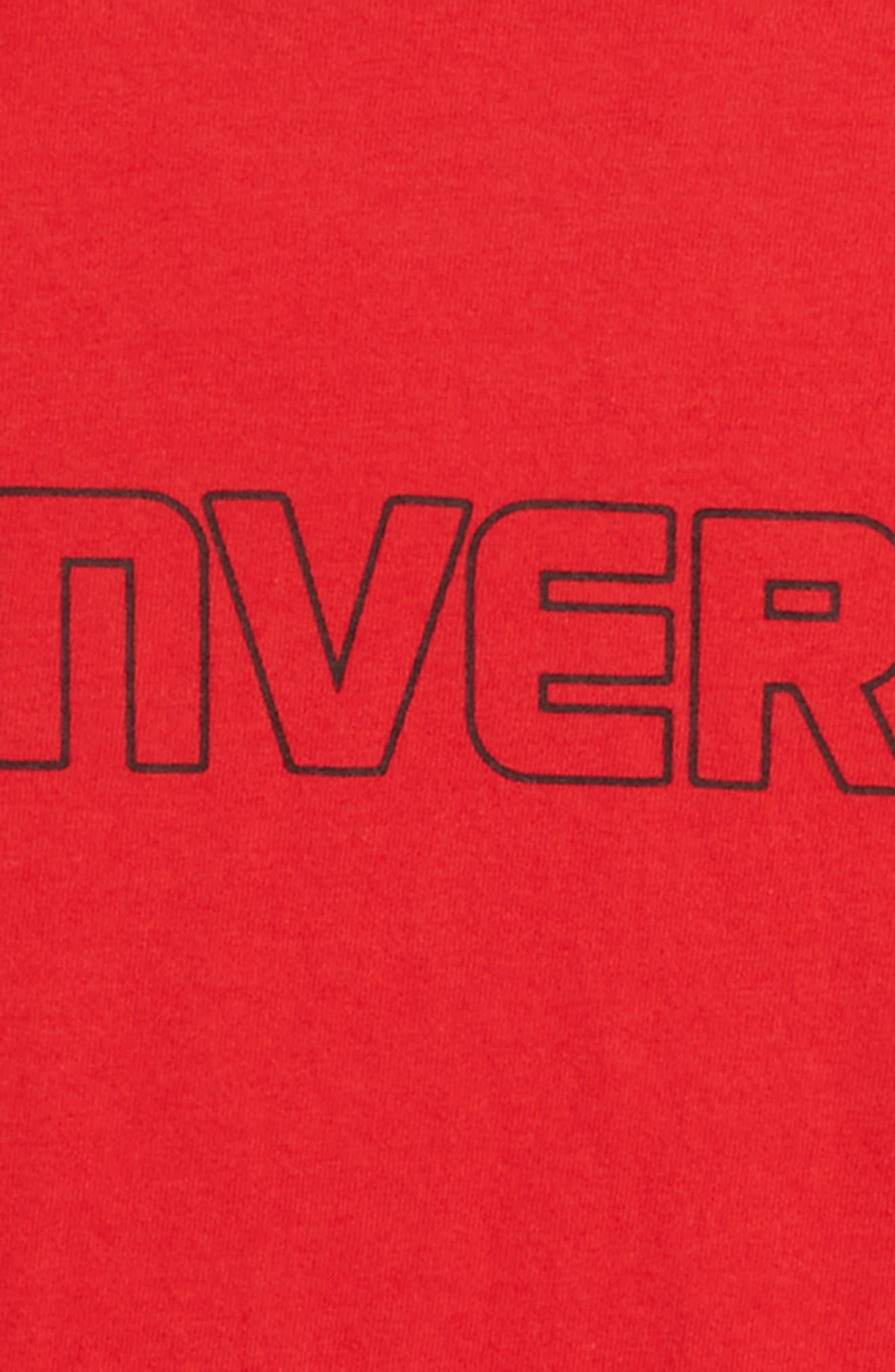 Stars & Logo Graphic T-Shirt,                             Alternate thumbnail 2, color,                             Converse Red