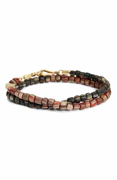 Gl Bead Wrap Bracelet