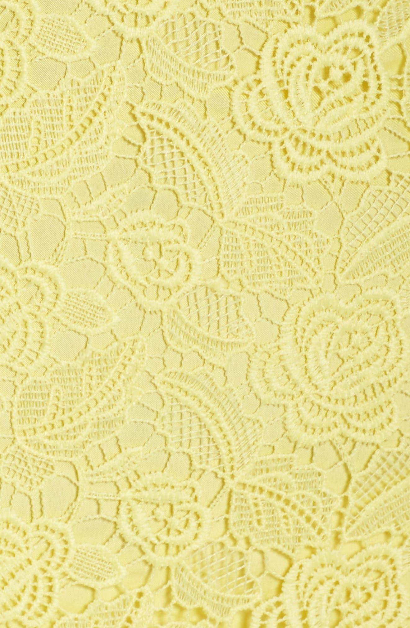 Alternate Image 5  - BB Dakota Gisel Ruffle Hem Lace Dress