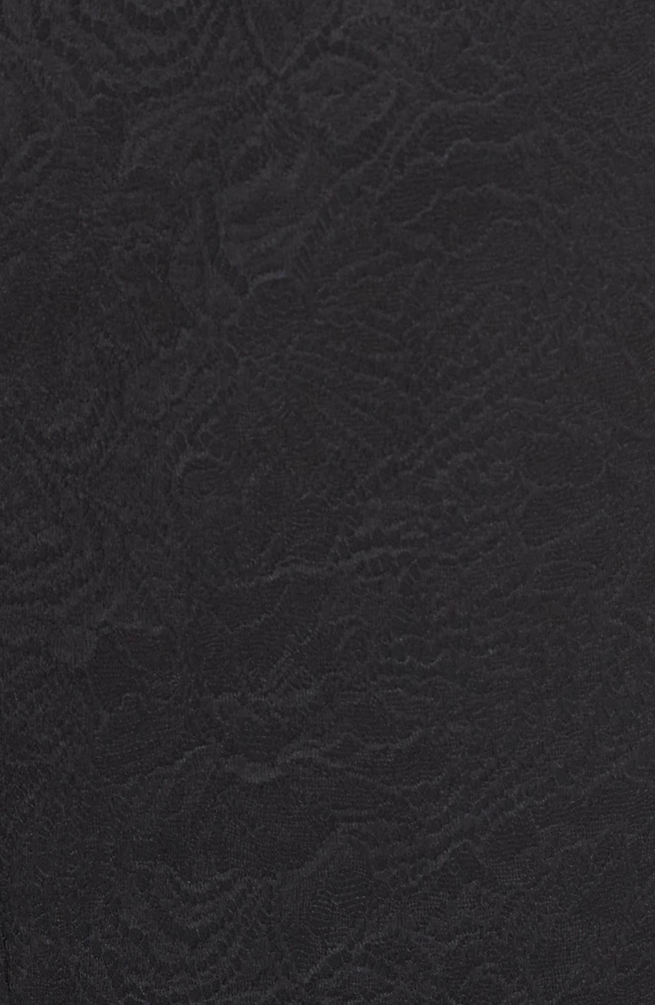 Ruffle Midi Dress,                             Alternate thumbnail 6, color,                             Black