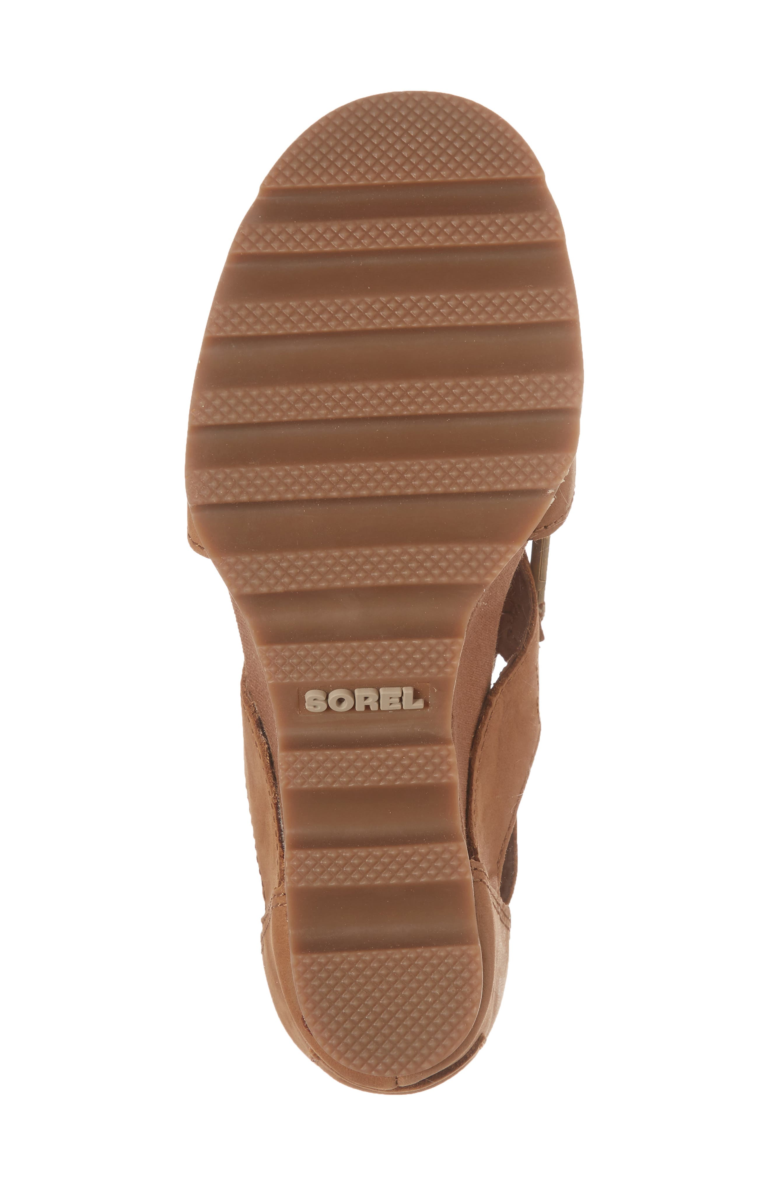 'Joanie' Cage Sandal,                             Alternate thumbnail 6, color,                             Camel Brown