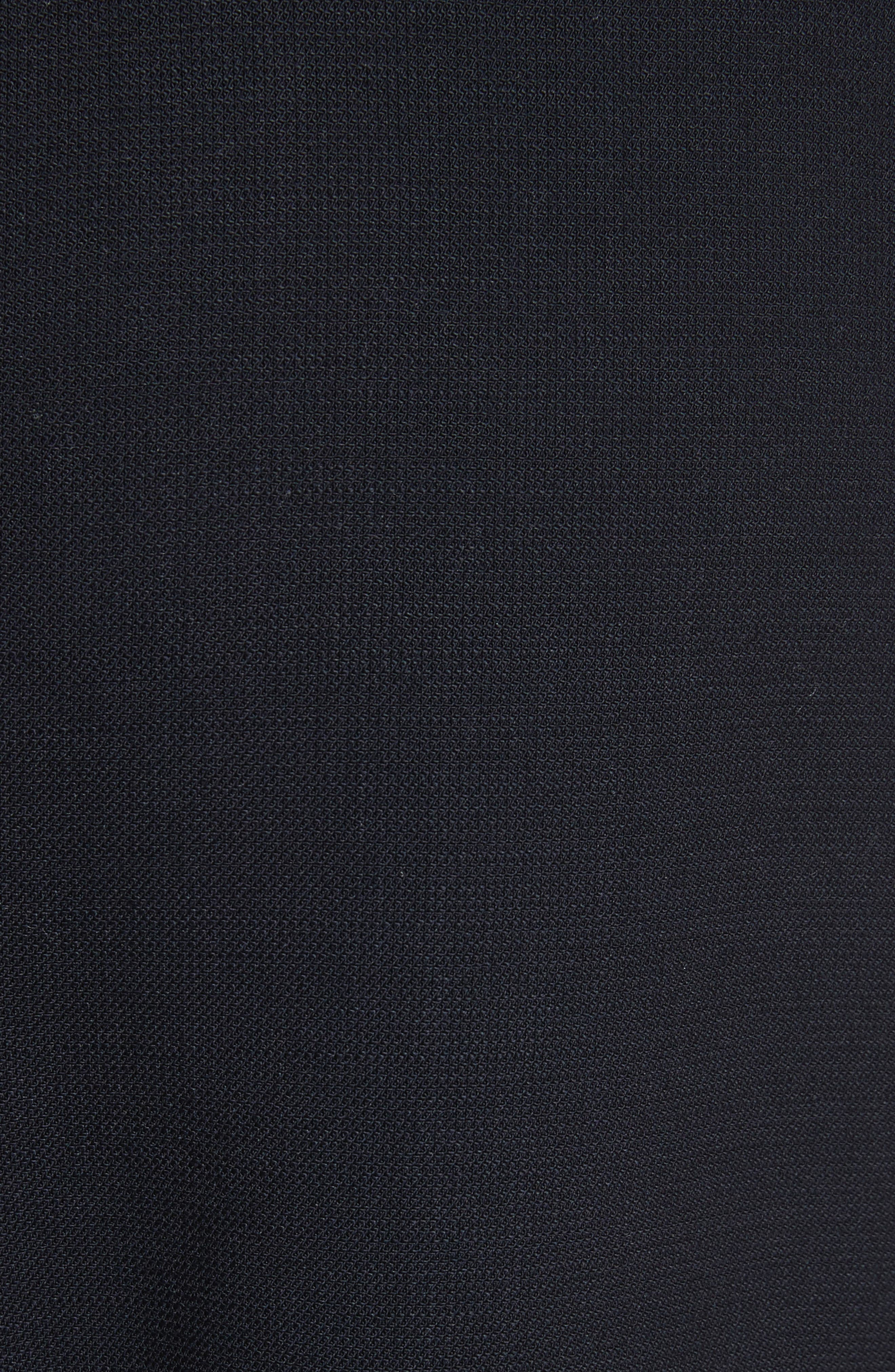 Front Slit Skinny Trousers,                             Alternate thumbnail 5, color,                             Navy