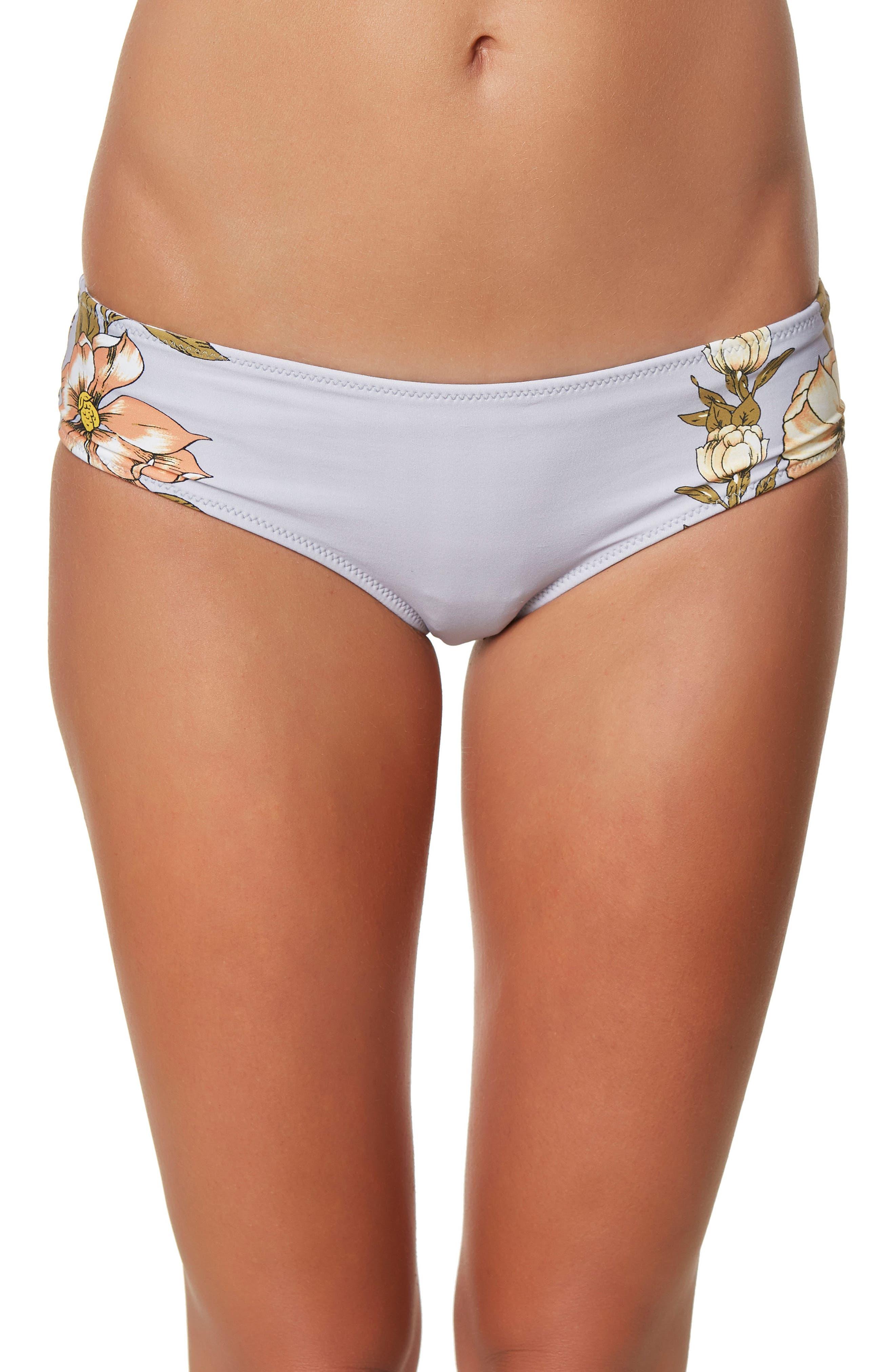 Alternate Image 1 Selected - O'Neill Aloha Floral Revo Hipster Bikini Bottoms