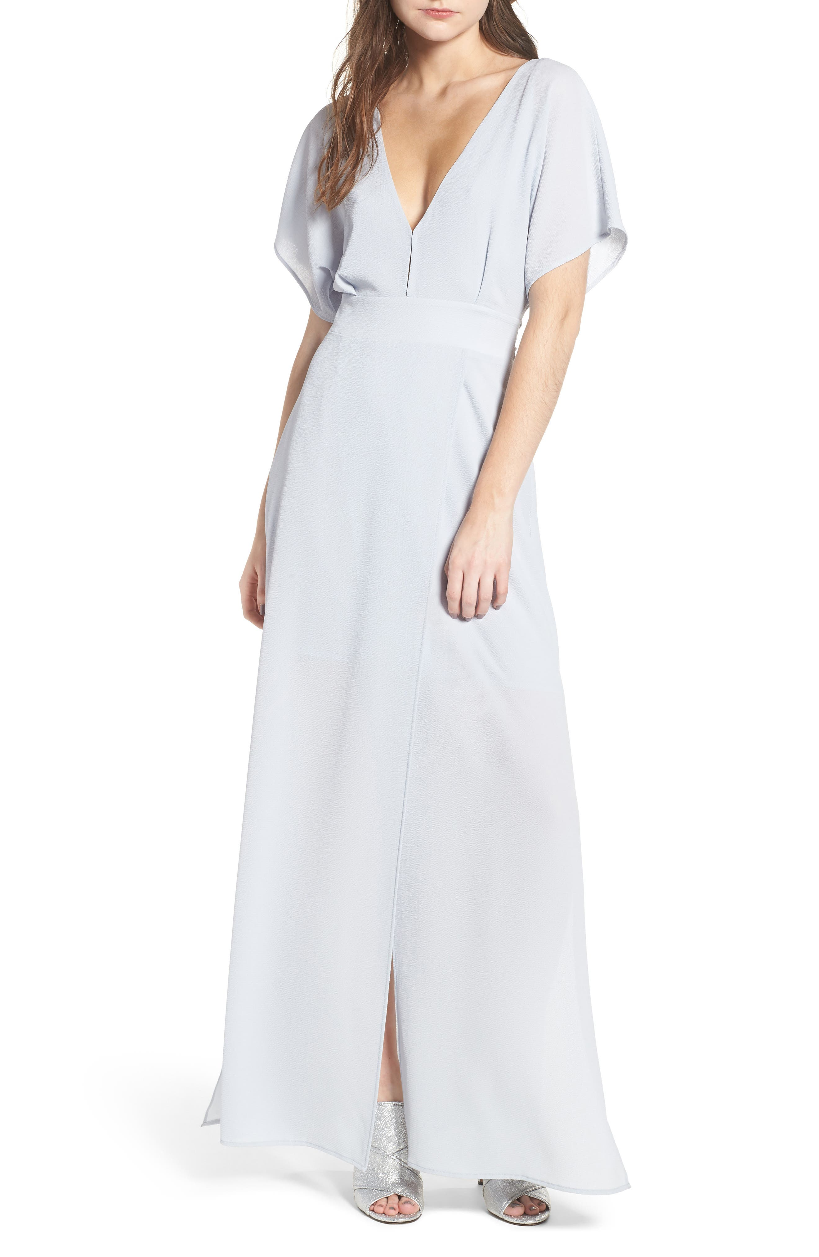 Carrara Slit Maxi Dress,                         Main,                         color, Blue Ice
