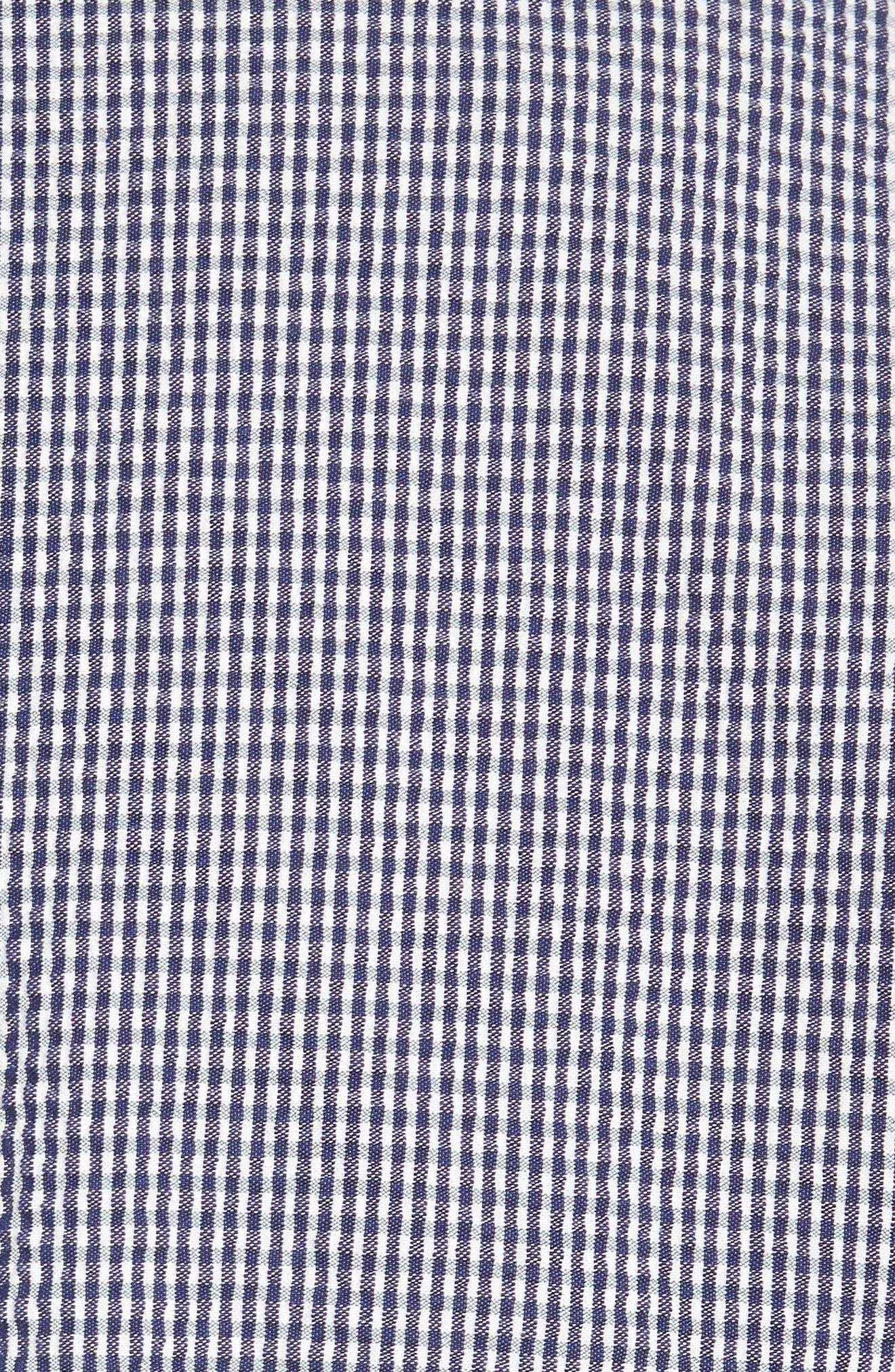 Slim Fit Stretch Seersucker Sport Coat,                             Alternate thumbnail 5, color,                             Marine Blue