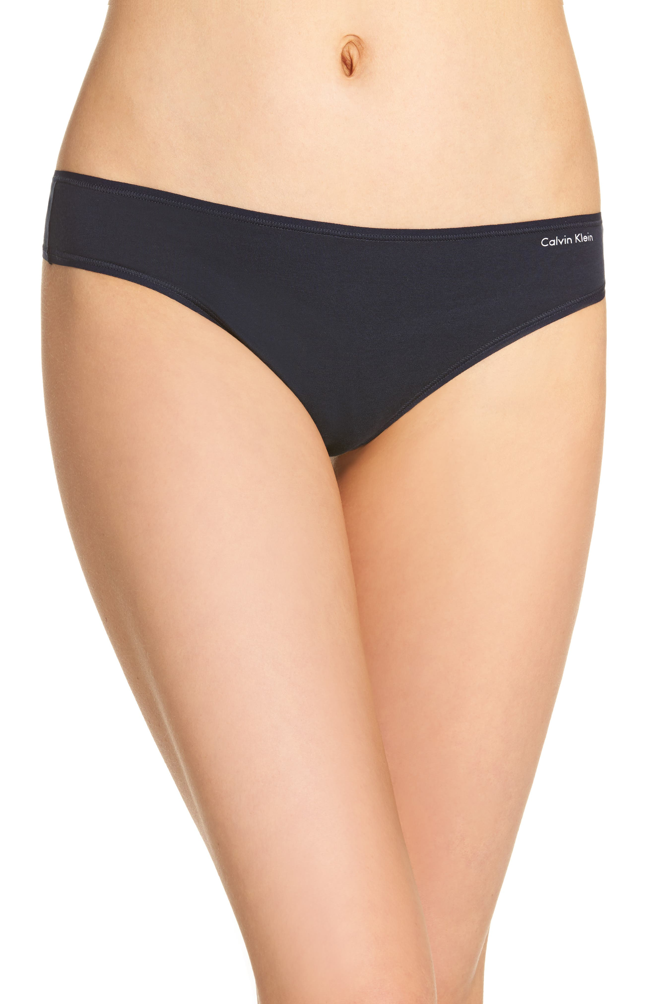 Alternate Image 1 Selected - Calvin Klein Form Thong (3 for $33)