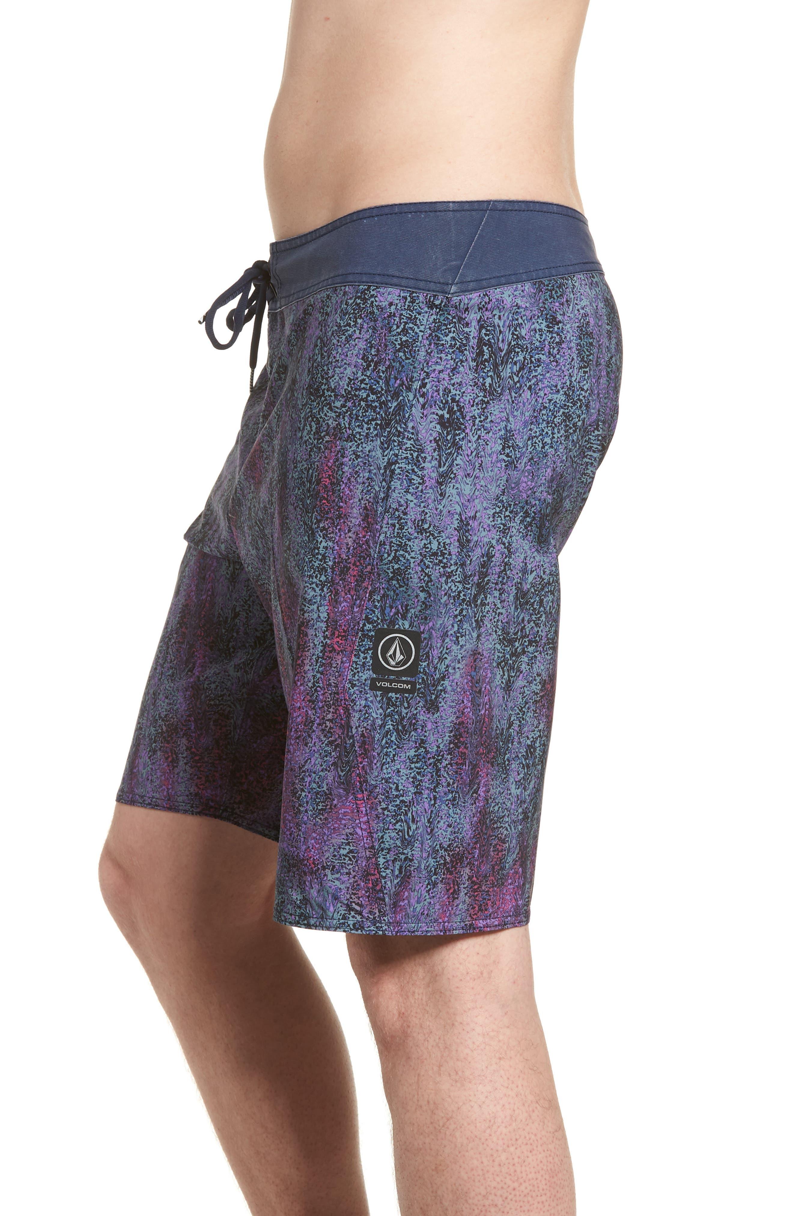 Plasm Mod Board Shorts,                             Alternate thumbnail 3, color,                             Indigo