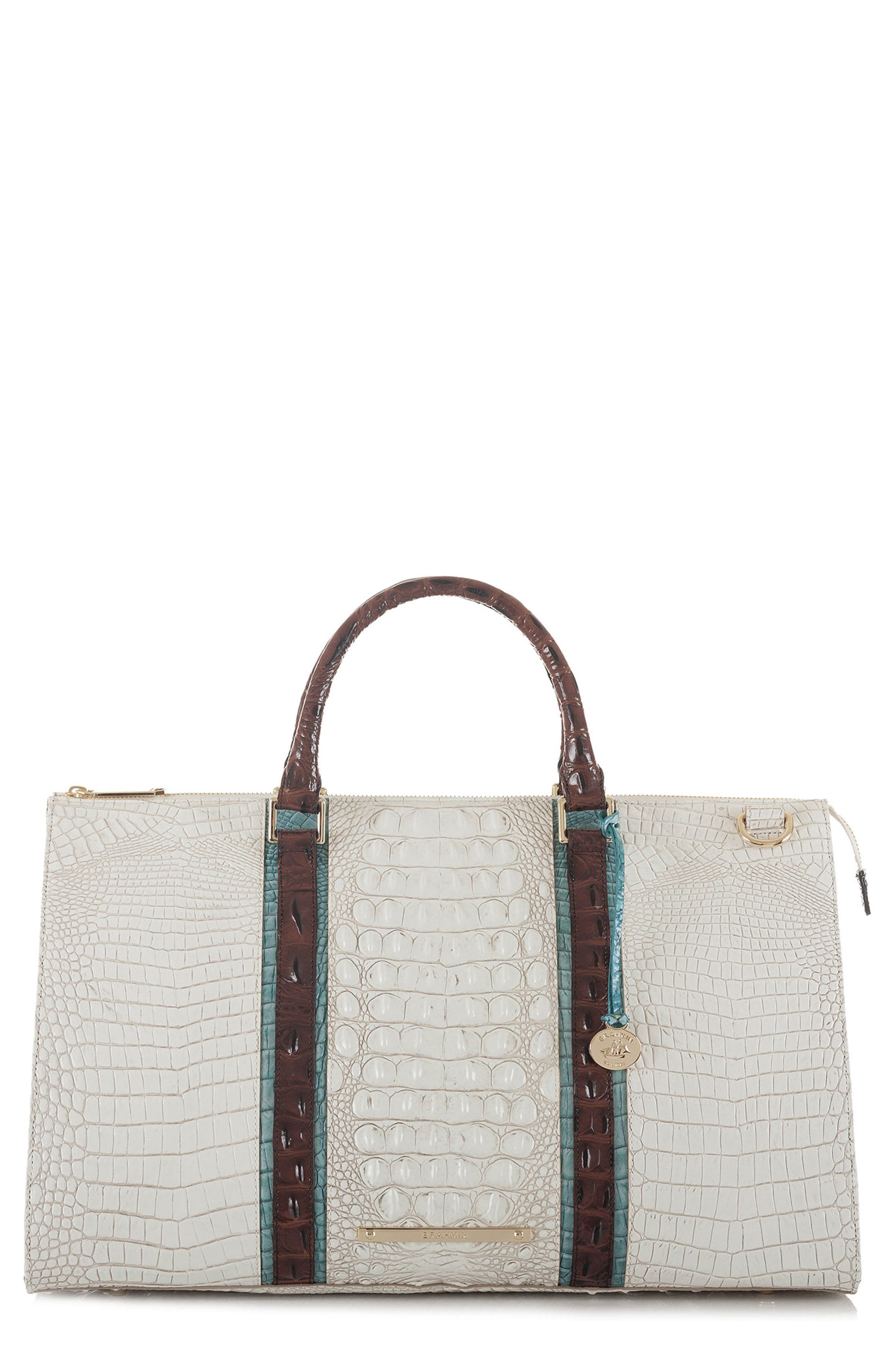 Anywhere Weekend Leather Bag,                         Main,                         color, Coconut