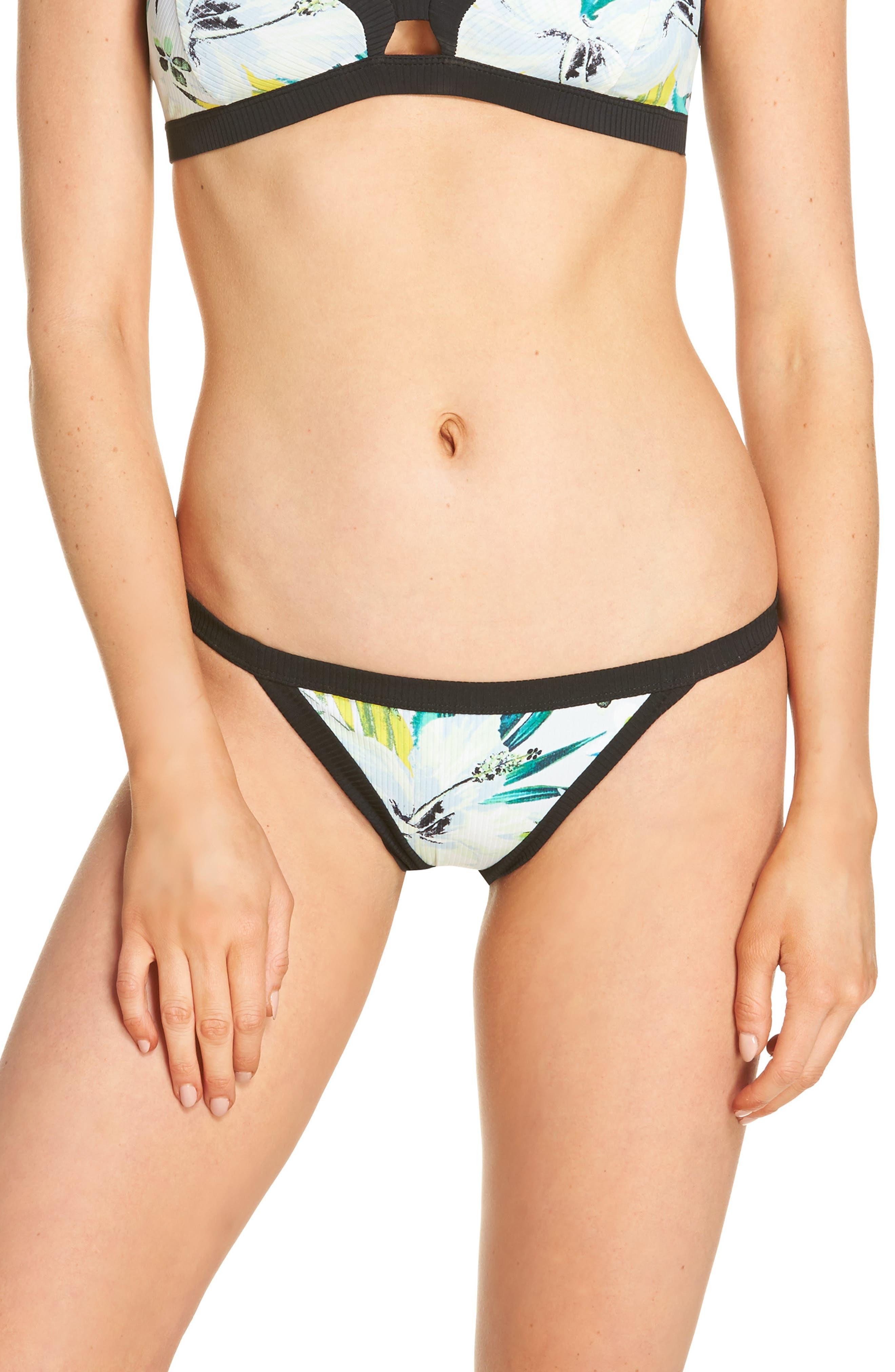 Garden Quick Dry Bikini Bottoms,                             Main thumbnail 1, color,                             Pure Platinum