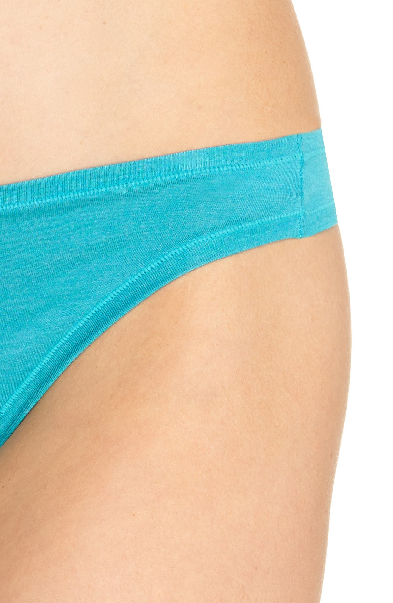 Bliss Essence Thong,                             Alternate thumbnail 5, color,                             Turquoise