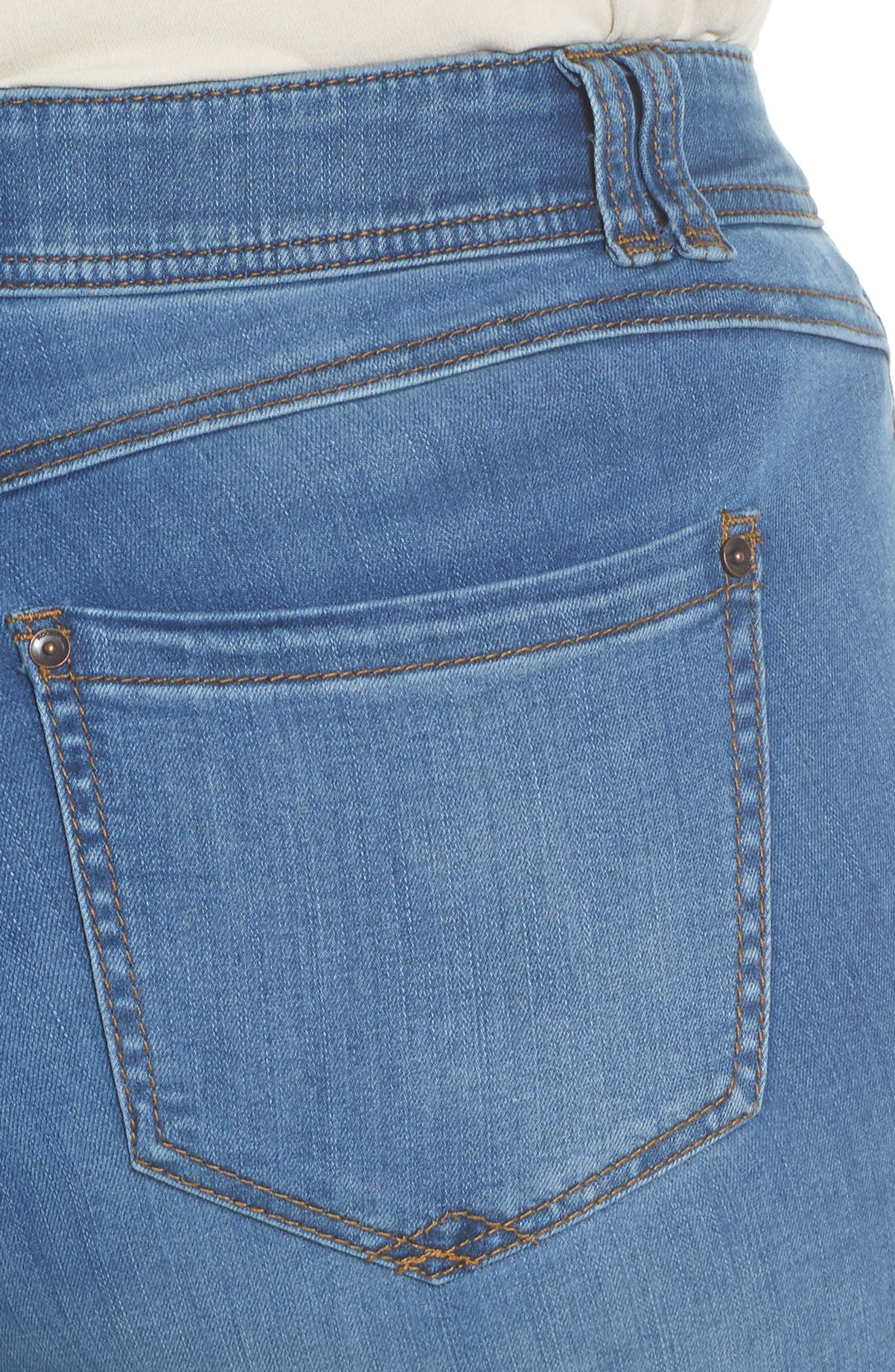 Ab-solution Luxe Touch Bootcut Jeans,                             Alternate thumbnail 4, color,                             Light Blue