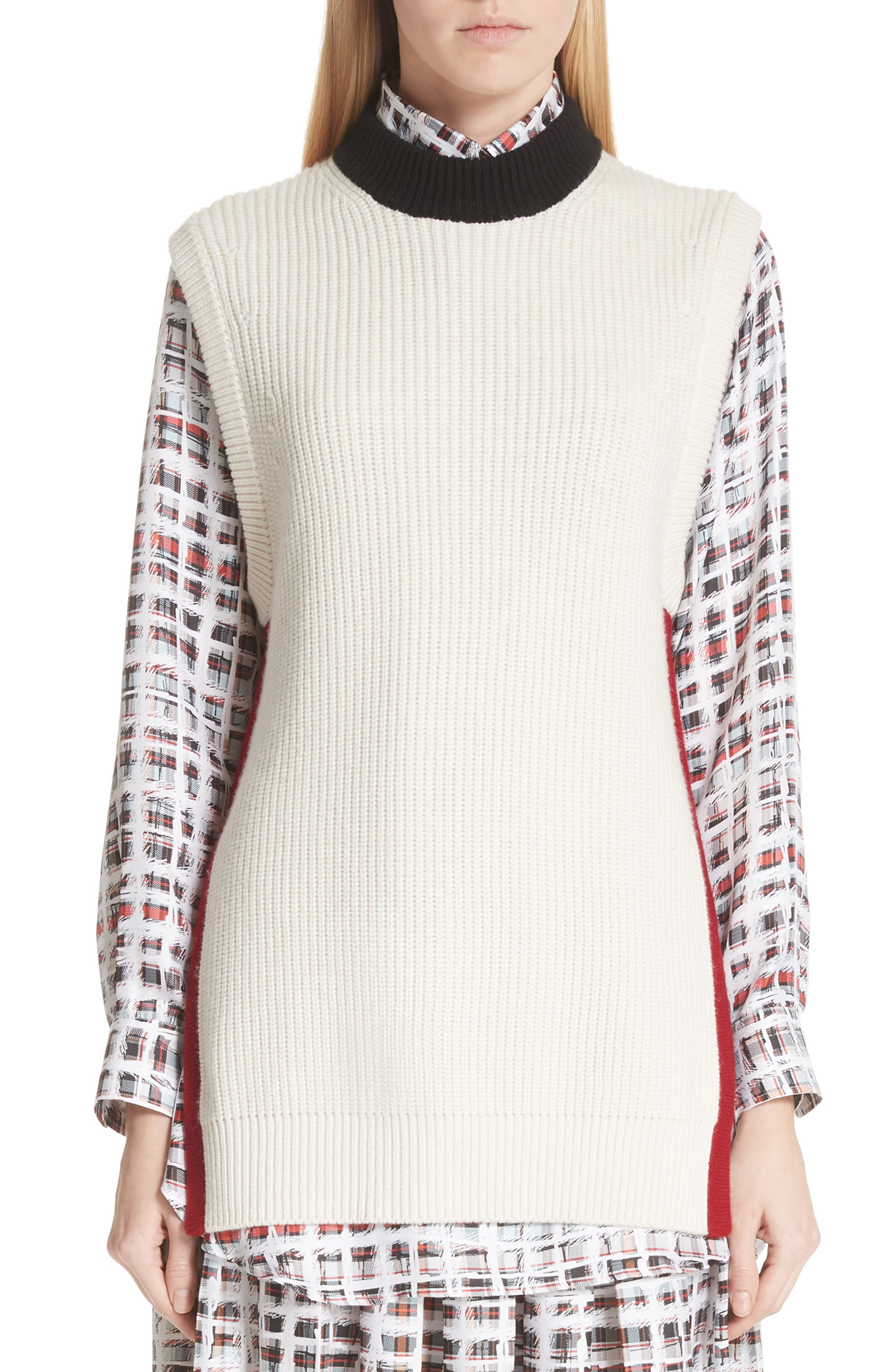 Knox 55 Wool & Cashmere Sweater,                             Main thumbnail 1, color,                             Natural White