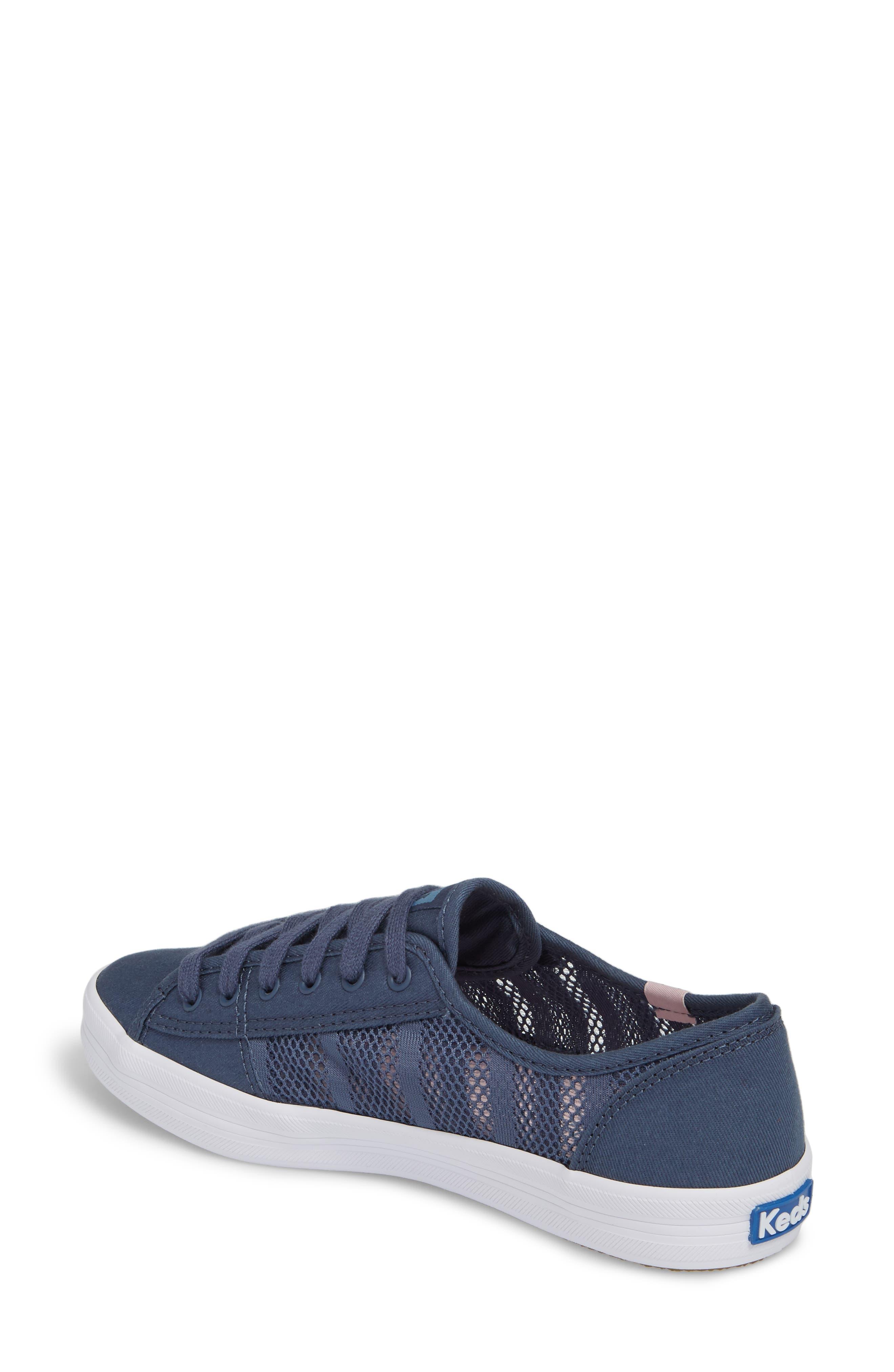 Kickstart Stripe Mesh Sneaker,                             Alternate thumbnail 2, color,                             Indigo