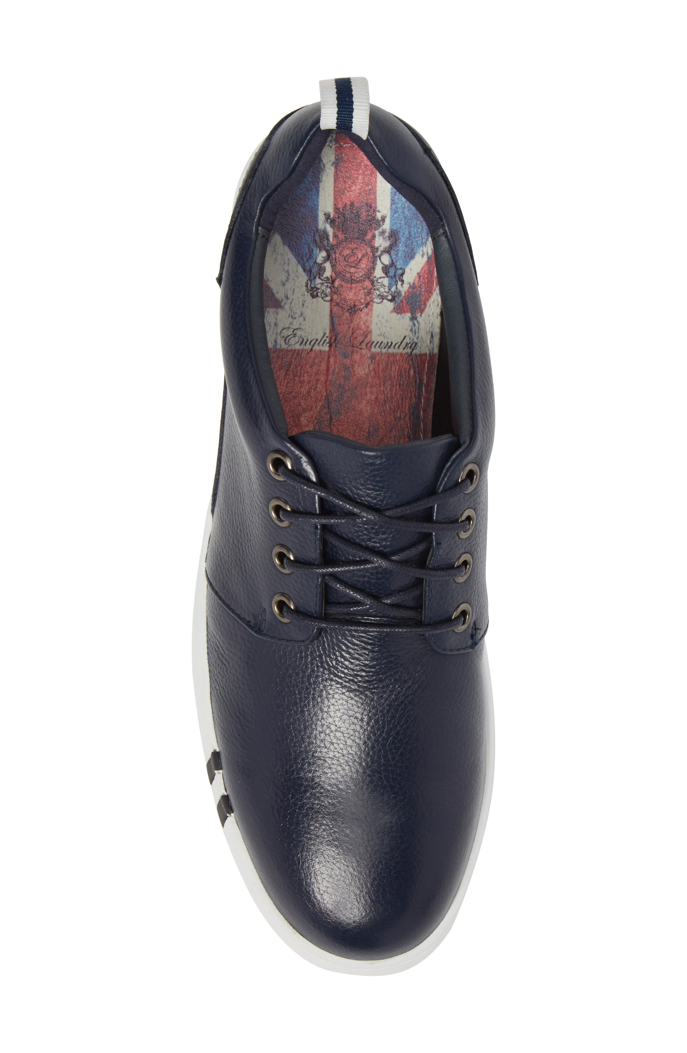 Kings Low Top Sneaker,                             Alternate thumbnail 5, color,                             Navy Leather
