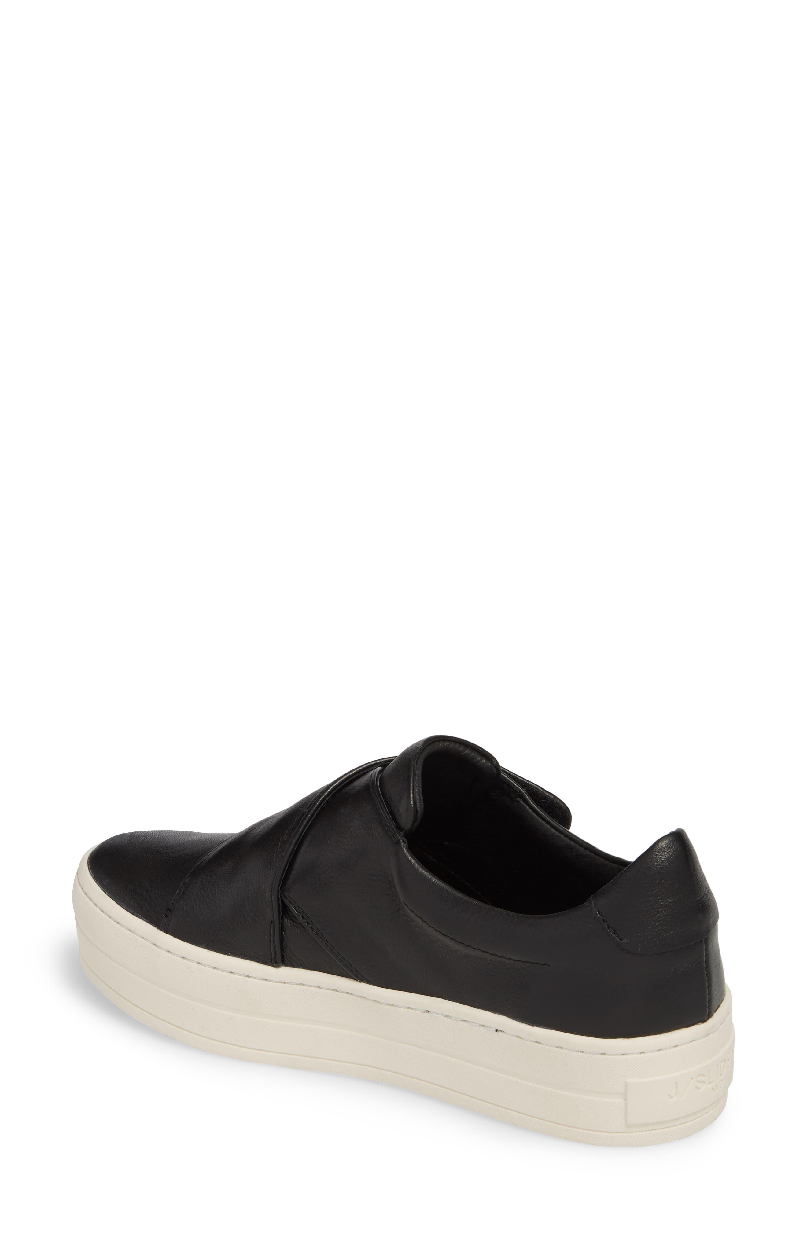 Harper Sneaker,                             Alternate thumbnail 2, color,                             Black Leather