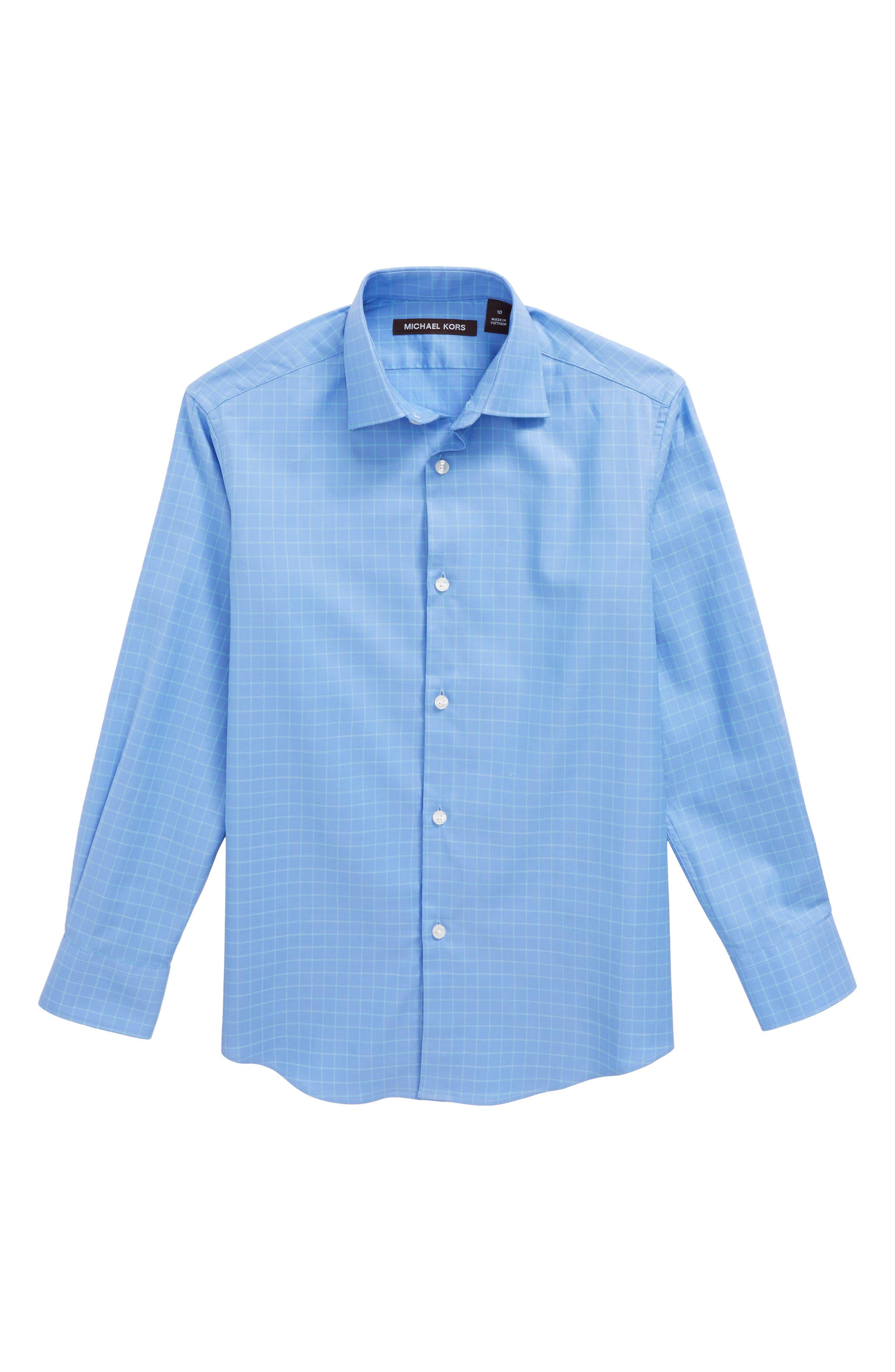 Collection Check Dress Shirt,                             Main thumbnail 1, color,                             Blue/ Green