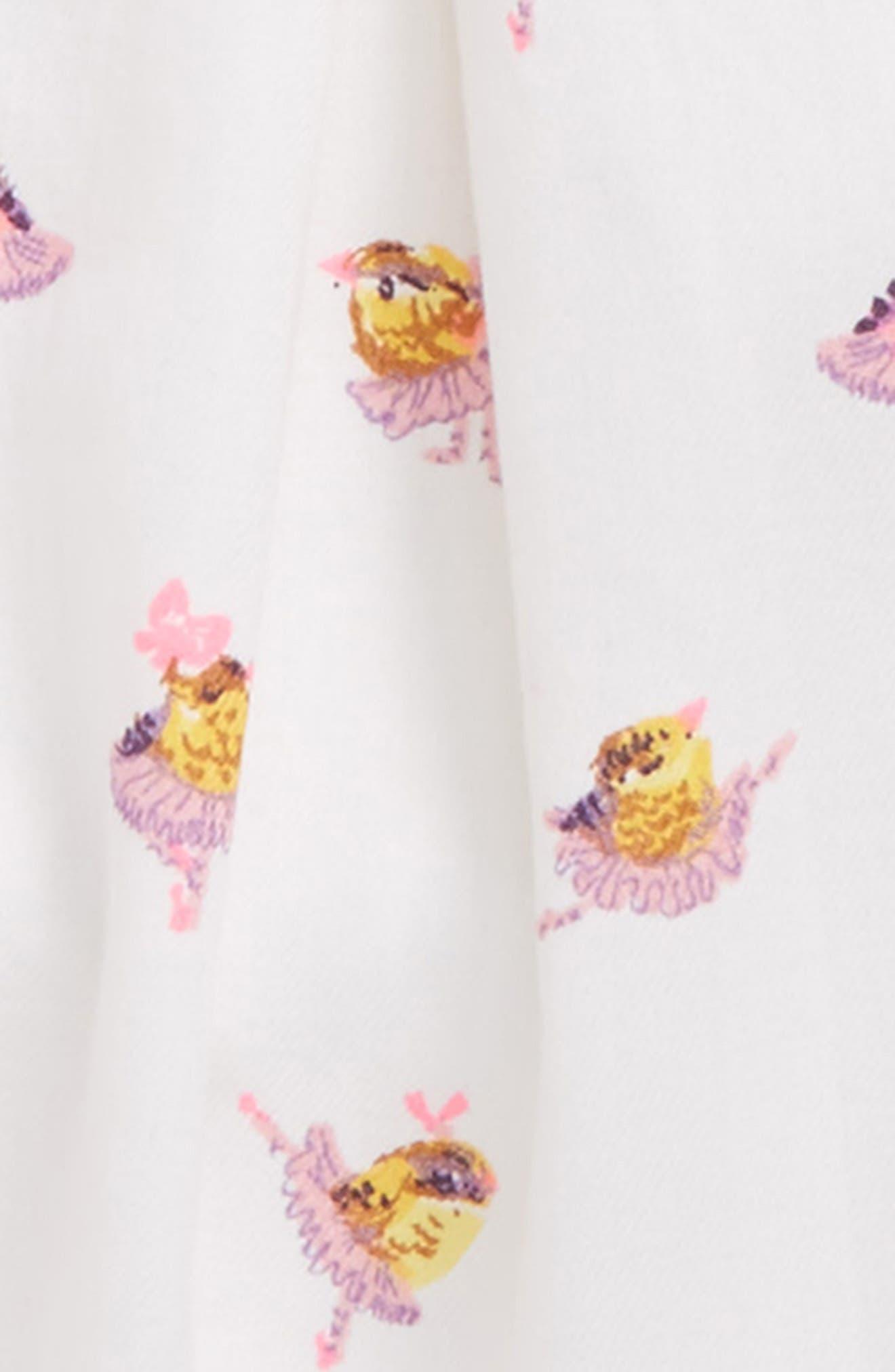 Pleated Dress,                             Alternate thumbnail 2, color,                             Ballerina Birds
