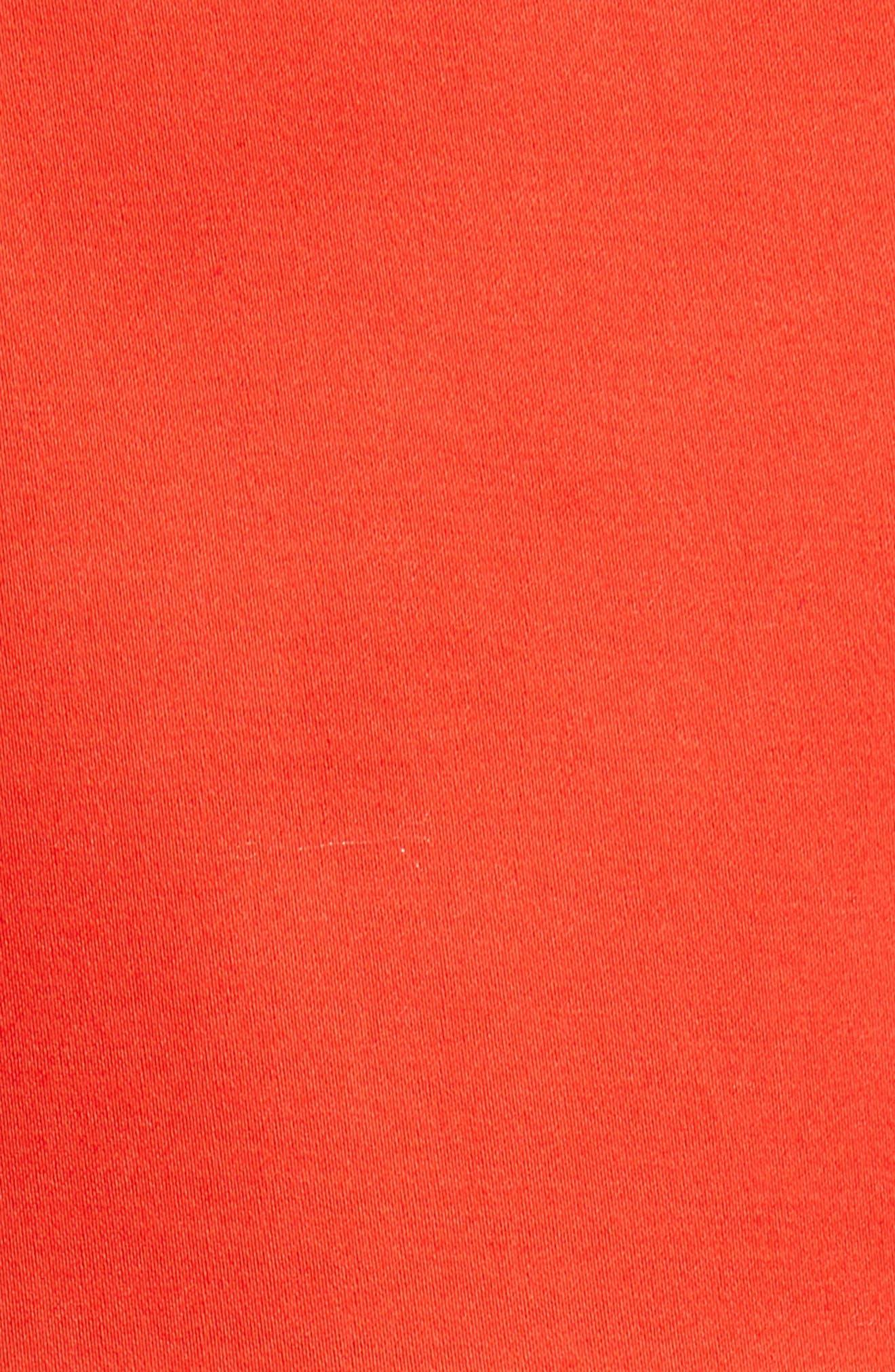 Love Circle V-Neck Dress,                             Alternate thumbnail 5, color,                             Red