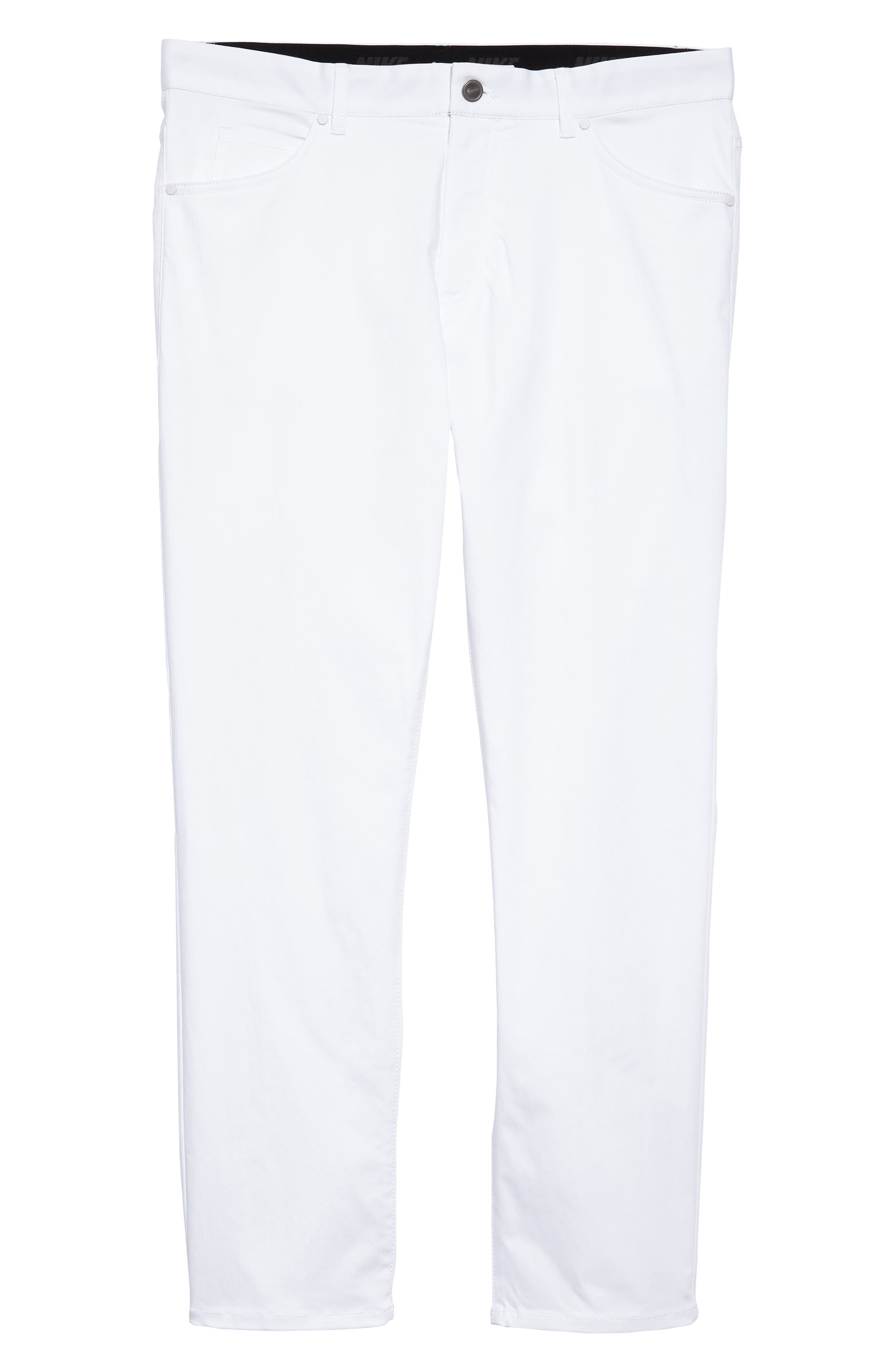 Dry Flex Slim Fit Golf Pants,                             Alternate thumbnail 6, color,                             White/ White