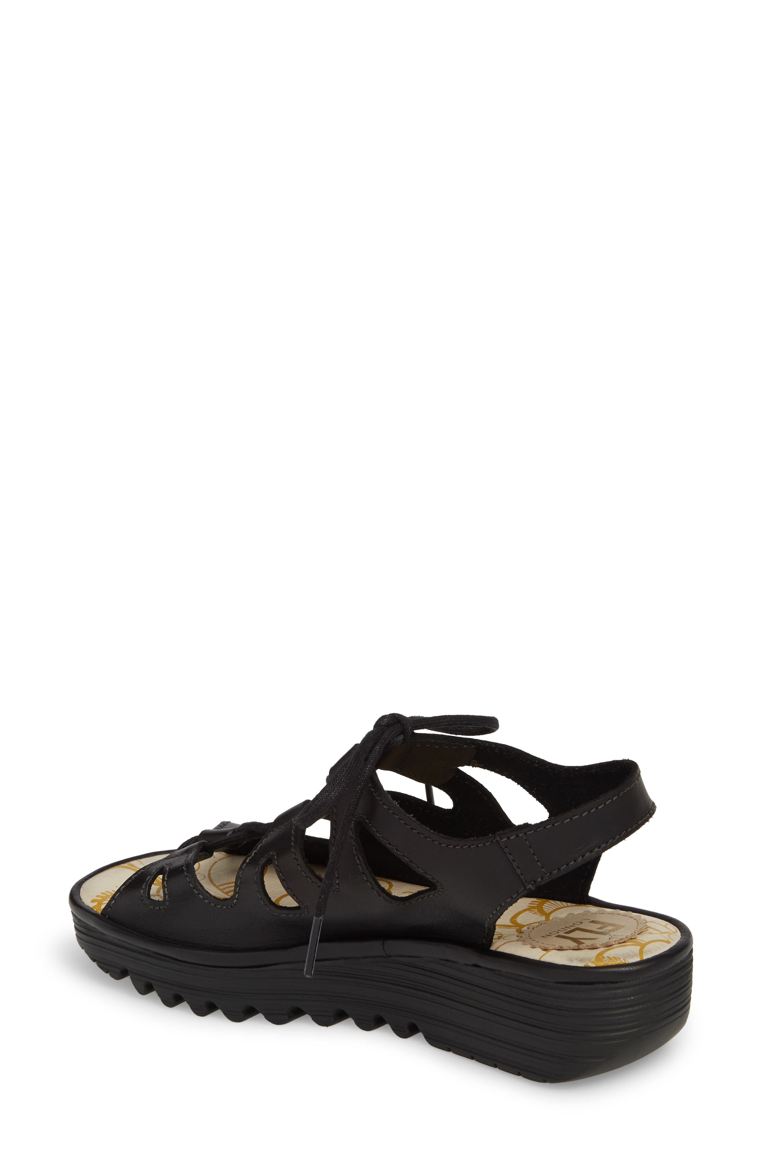Exon Sandal,                             Alternate thumbnail 2, color,                             Black Colmar Leather