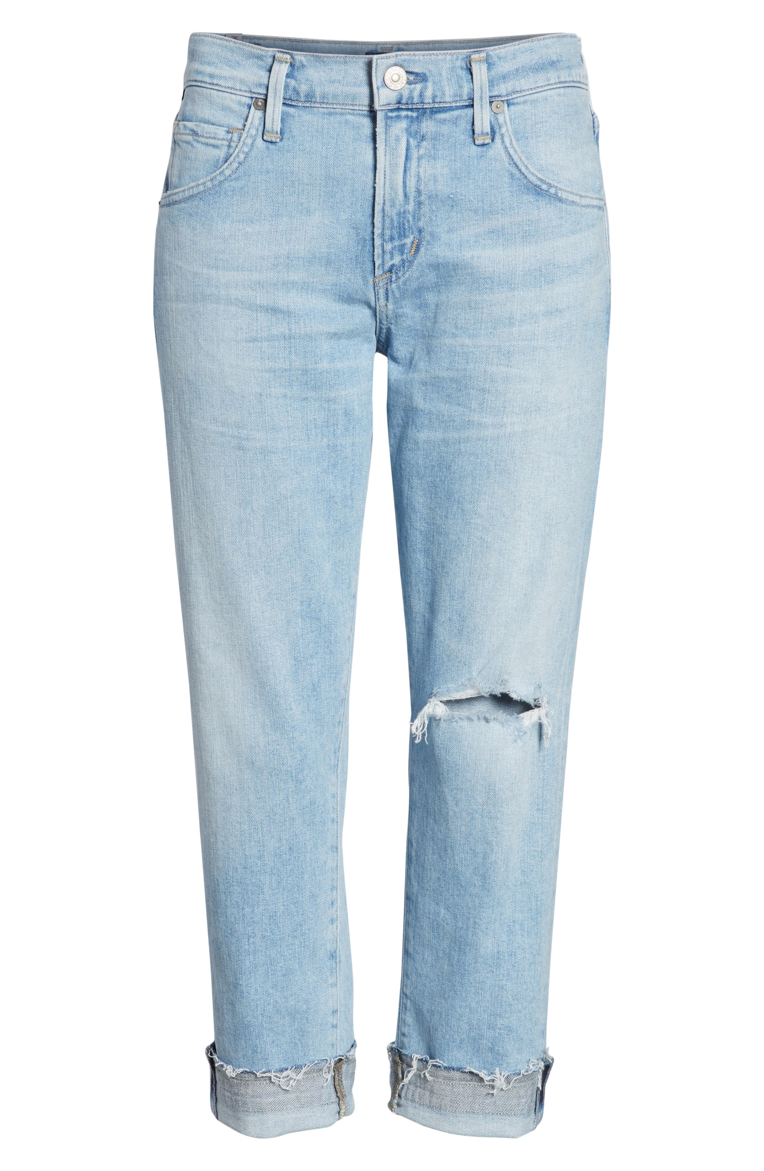 Emerson Ripped Crop Slim Boyfriend Jeans,                             Alternate thumbnail 7, color,                             Rising