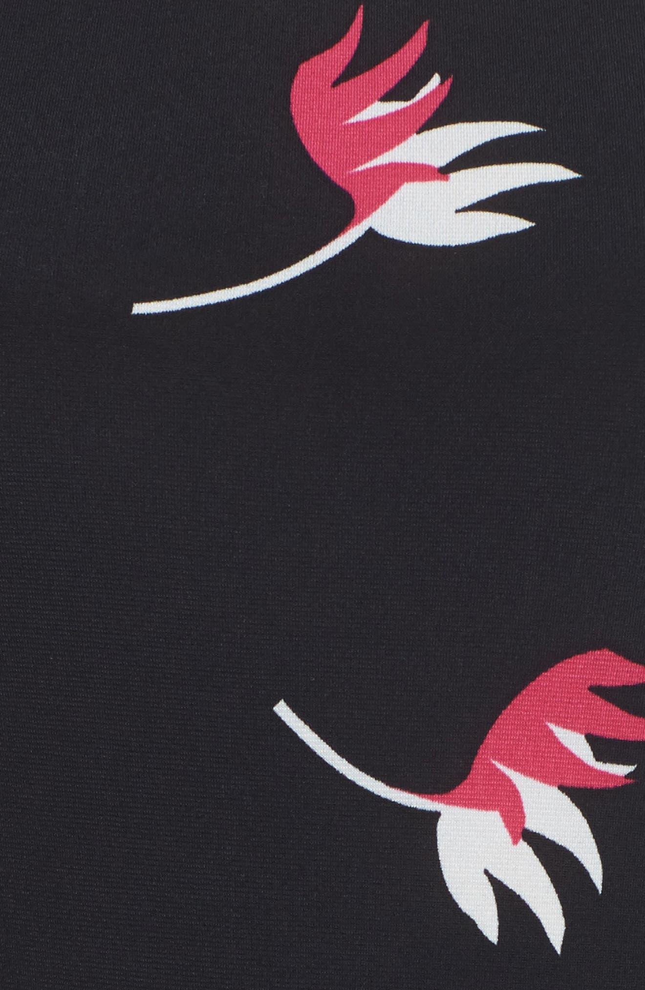 Llana Fit & Flare Dress,                             Alternate thumbnail 5, color,                             Bird Of Paradise