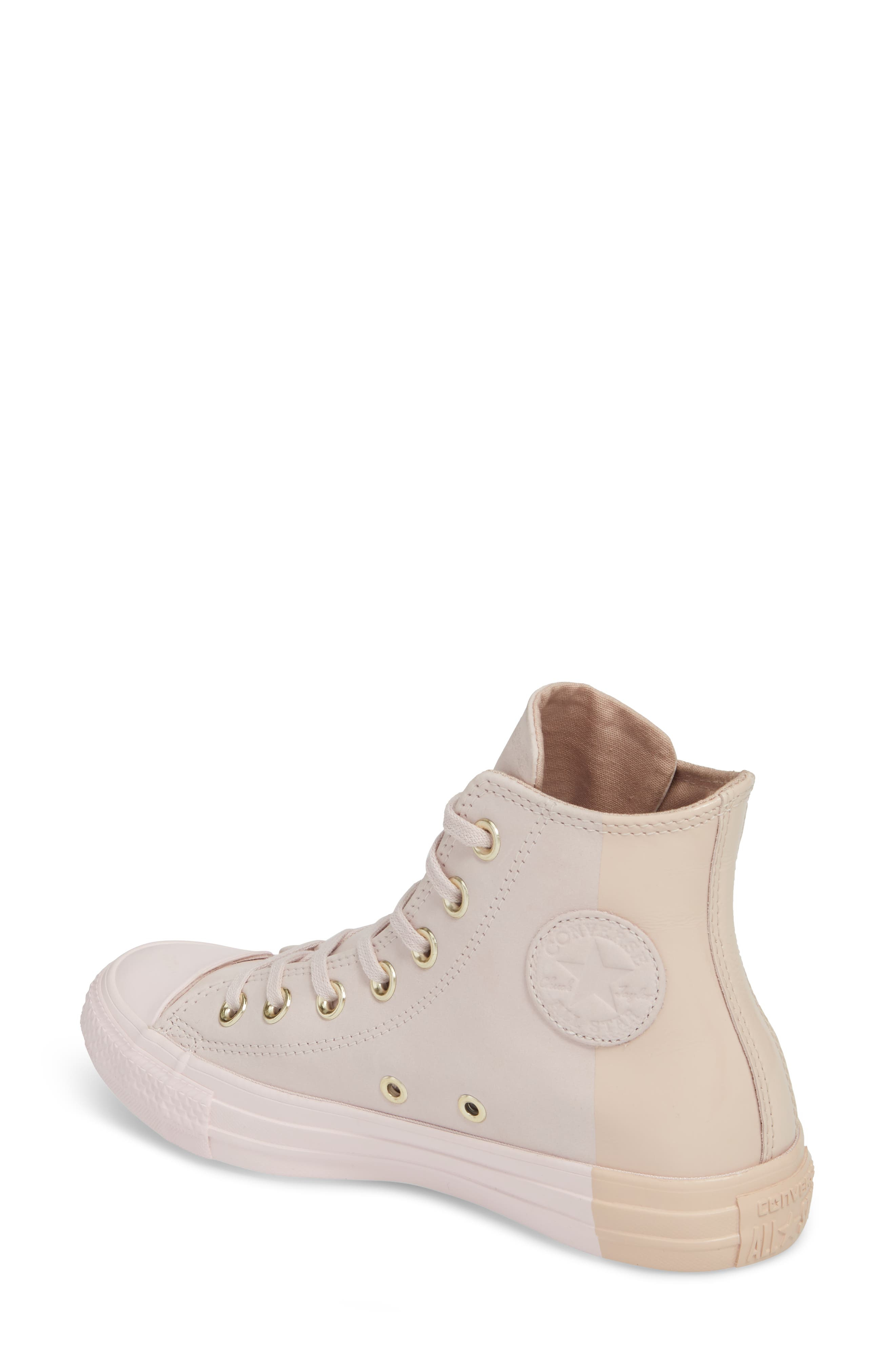Chuck Taylor<sup>®</sup> All Star<sup>®</sup> Blocked High Top Sneaker,                             Alternate thumbnail 2, color,                             Barely Rose