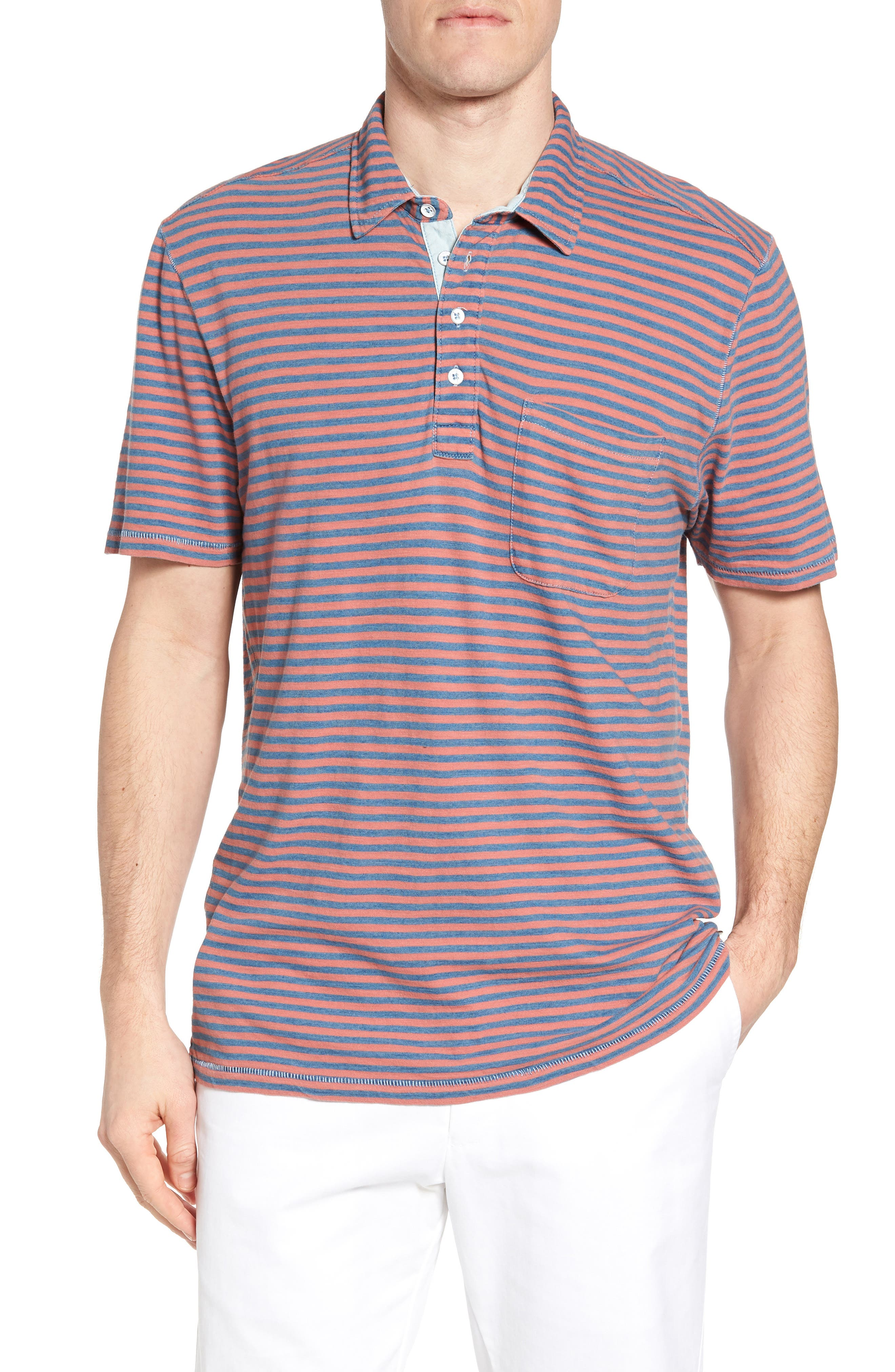 True Grit Crew Stripe Polo