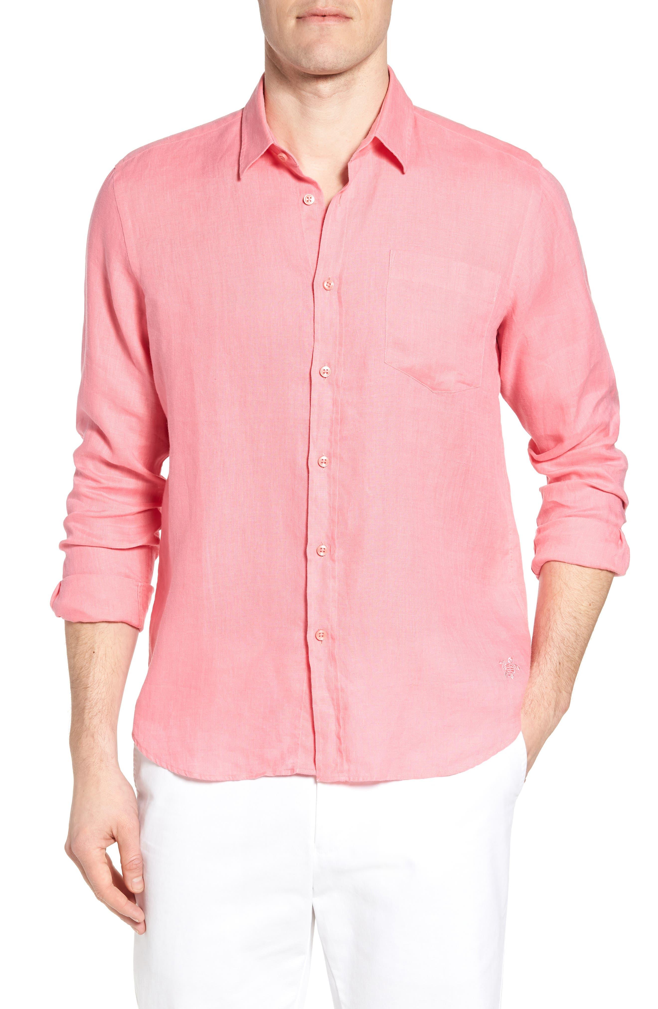 Alternate Image 1 Selected - Vilebrequin Caroubie Regular Fit Linen Sport Shirt